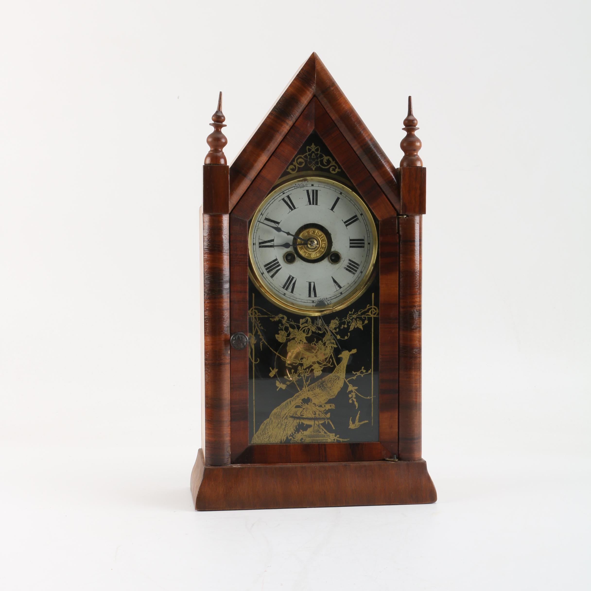 Antique Steeple Style Mantel Clock