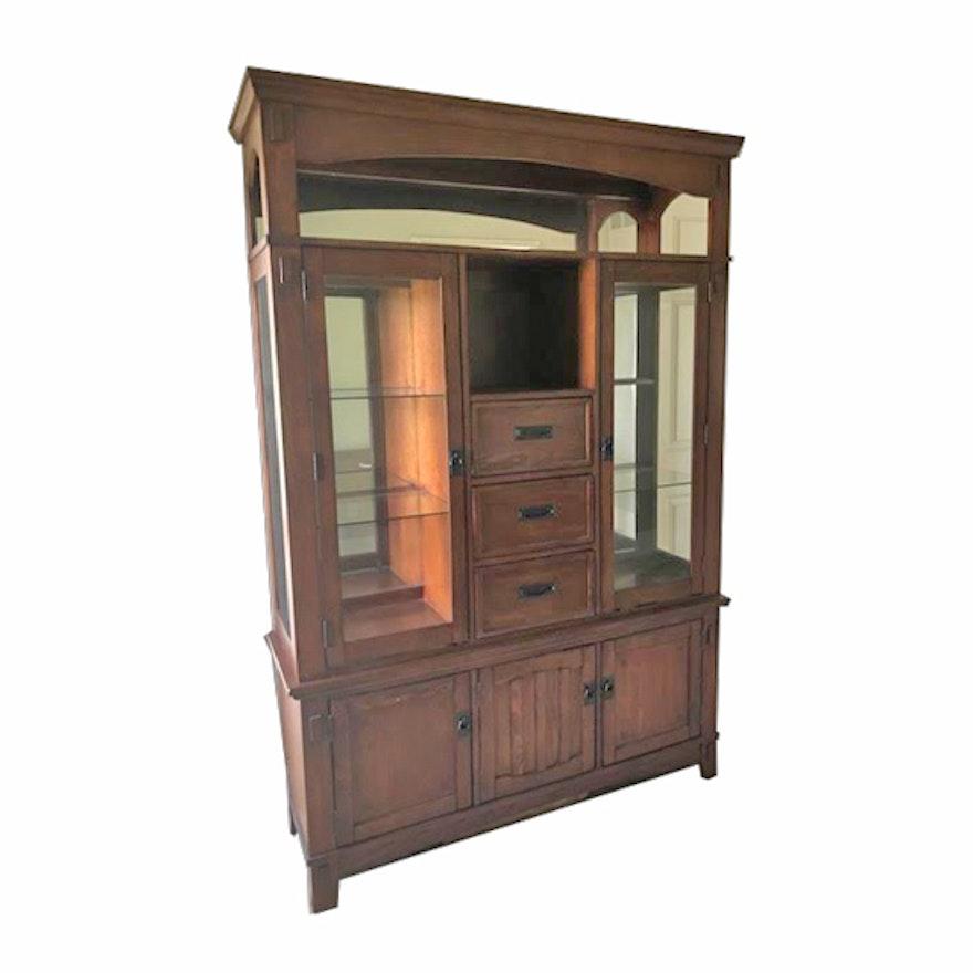 Ashley Furniture Lighted Display Cabinet Ebth