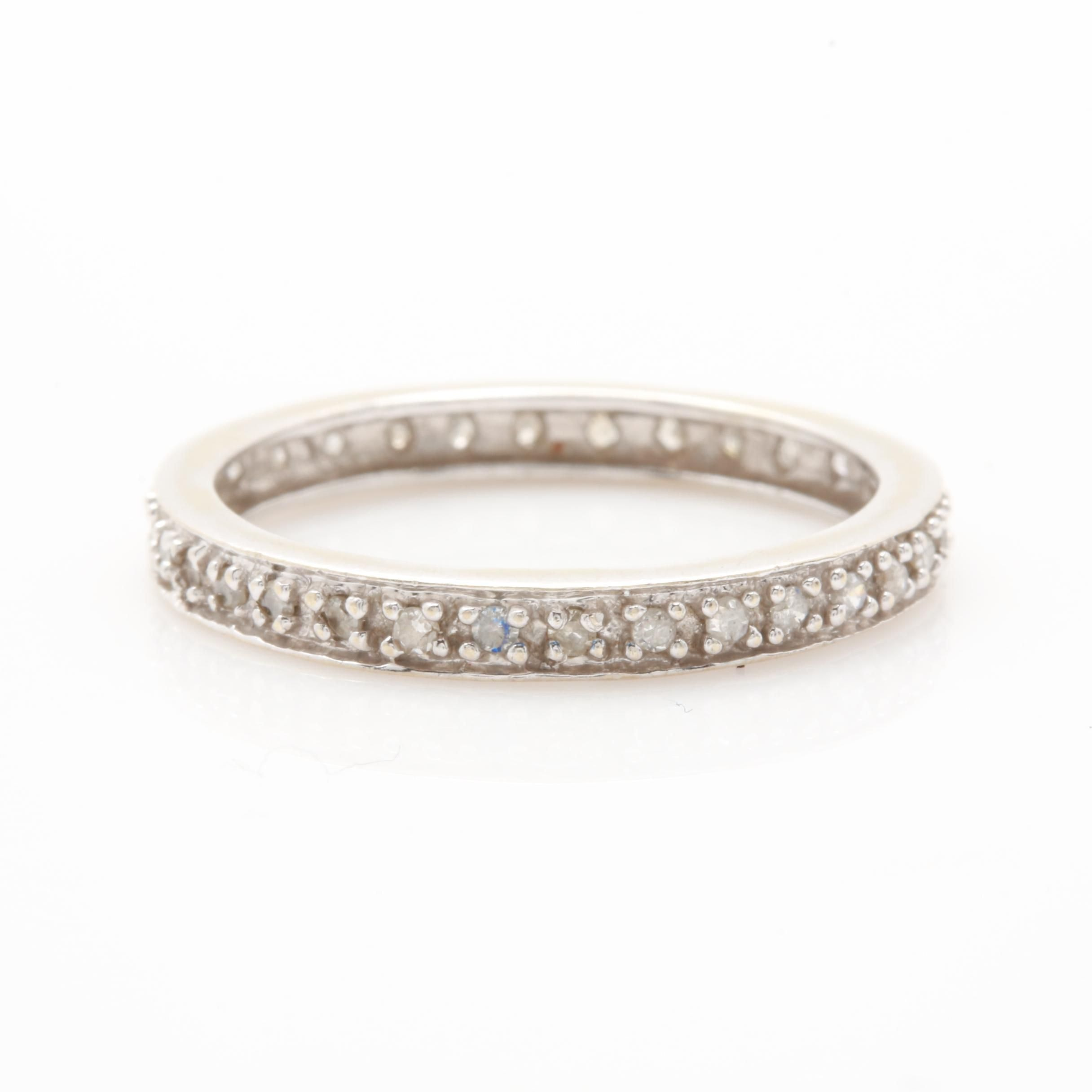 10K White Gold Diamond Eternity Ring