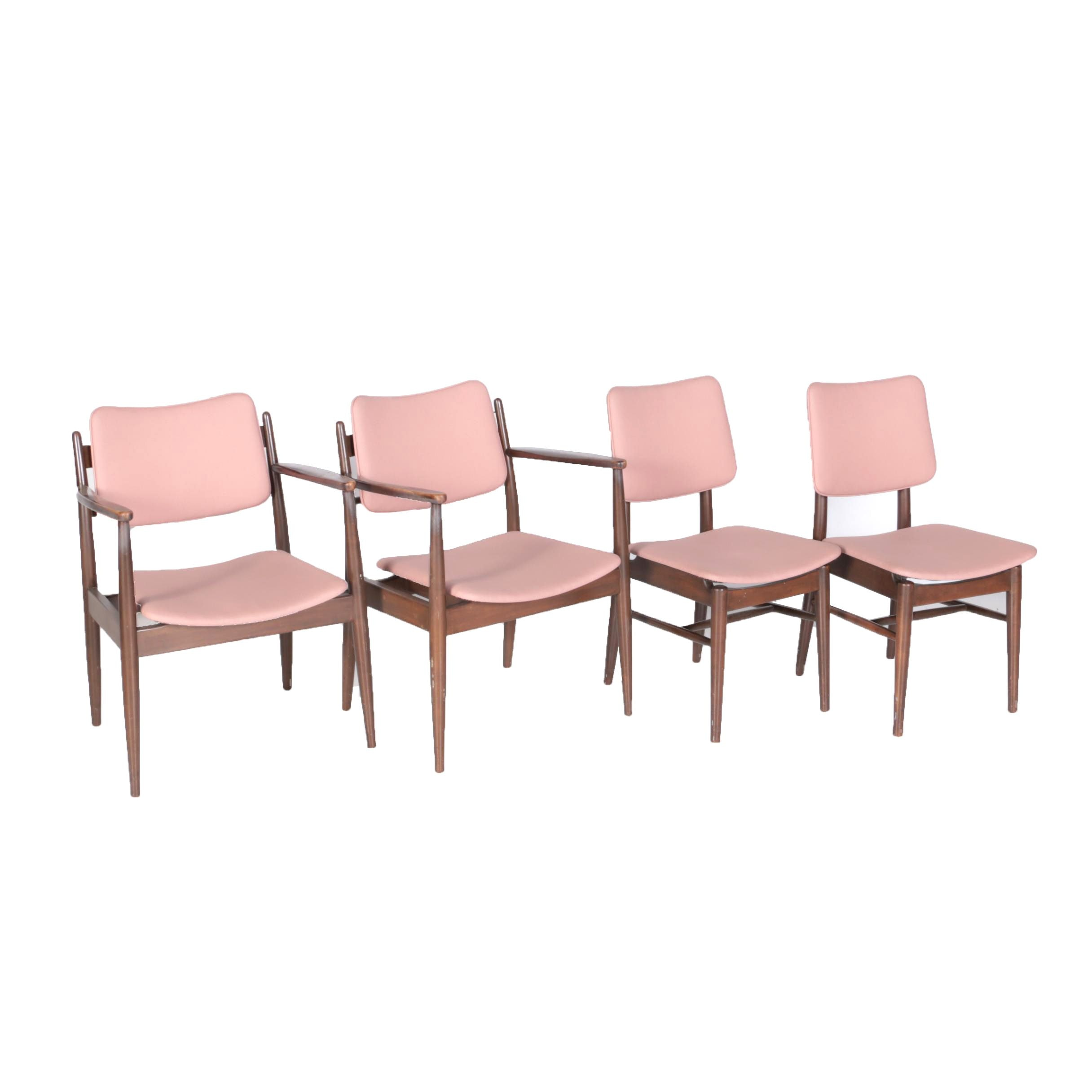 Four Mid Century Modern Chairs