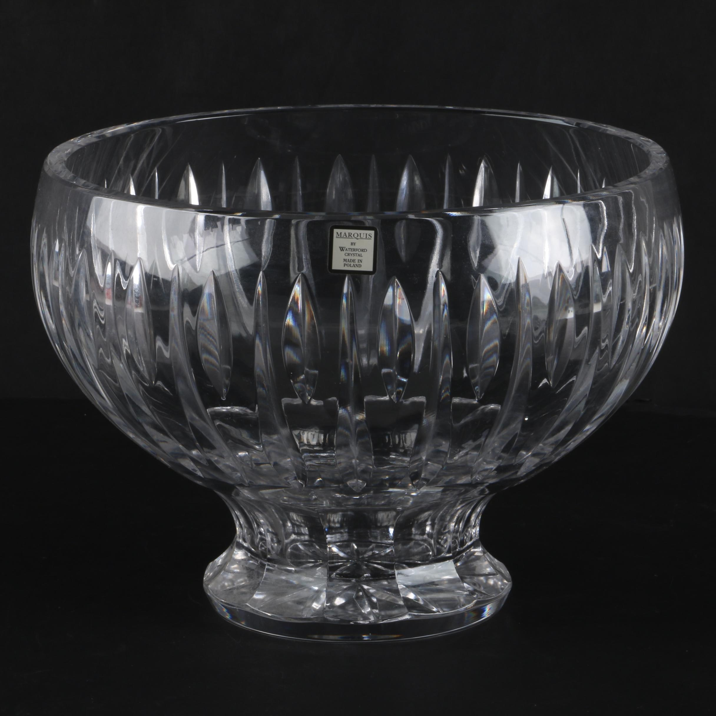 """Marquis By Waterford """"Sheridan"""" Crystal Footed Bowl"""