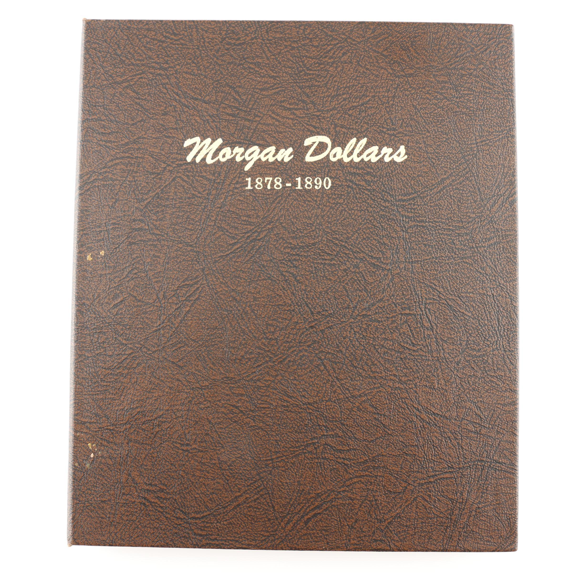 Complete Dansco Album of Morgan Silver Dollars 1878-1890, Including 1889-CC