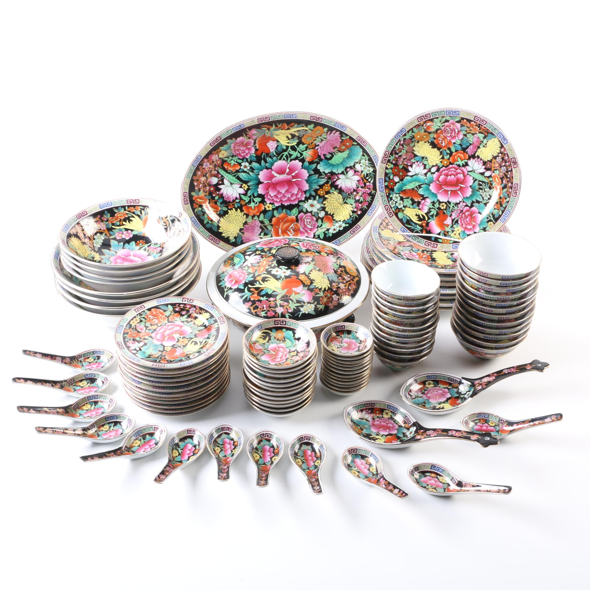 Chinese Floral Dinnerware