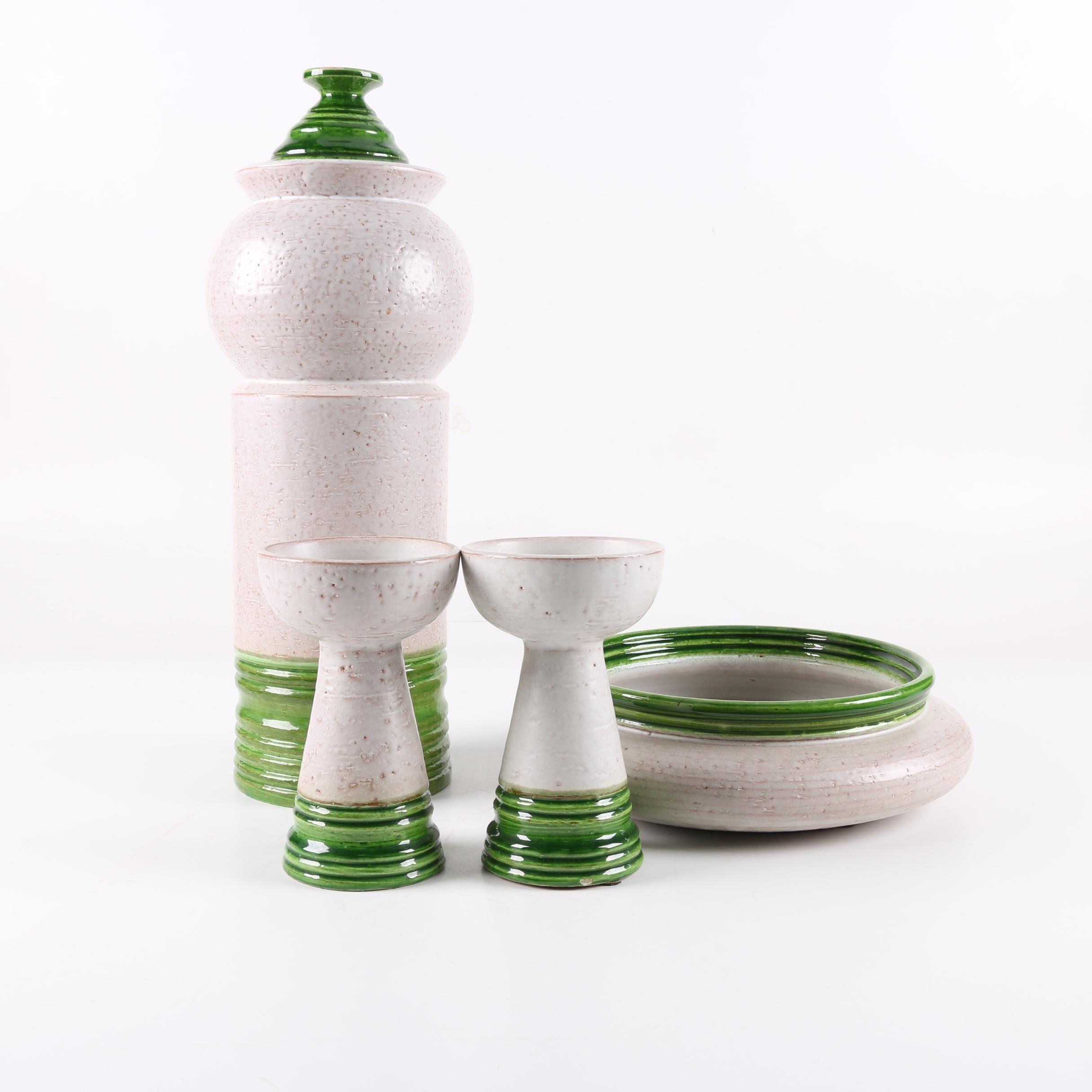 Mid Century Modern Italian Rosenthal-Netter Pottery
