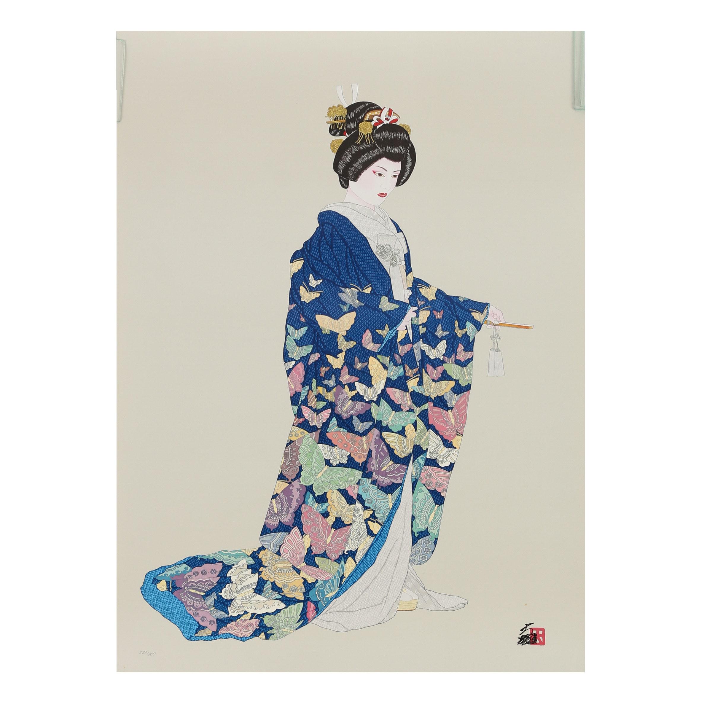 """Hisashi Otsuka Embellished Giclée """"Flight of Freedom"""""""