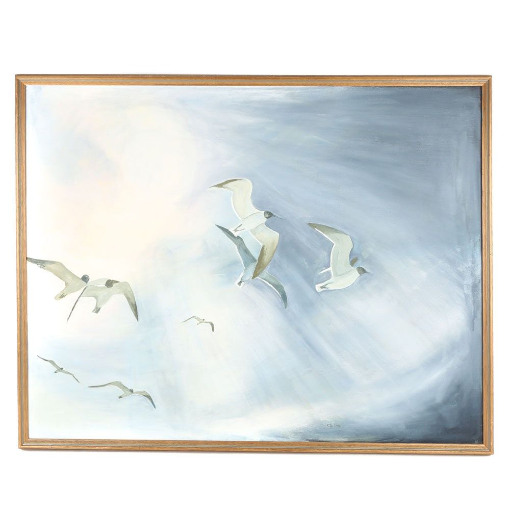 "Charlotte Peeler Brown Original Acrylic on Canvas ""Searching"""