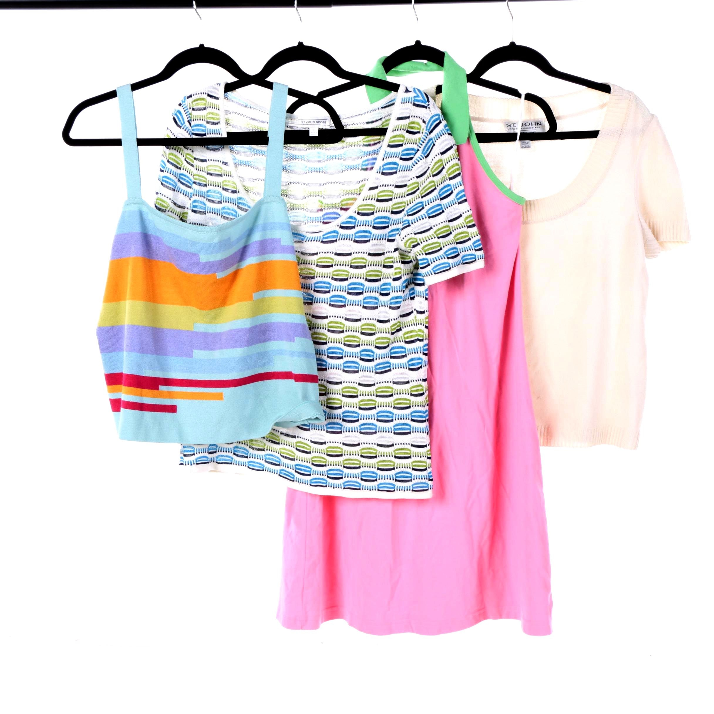 Women's St. John Sport and Lacoste Knit Tops and Sleeveless Dress