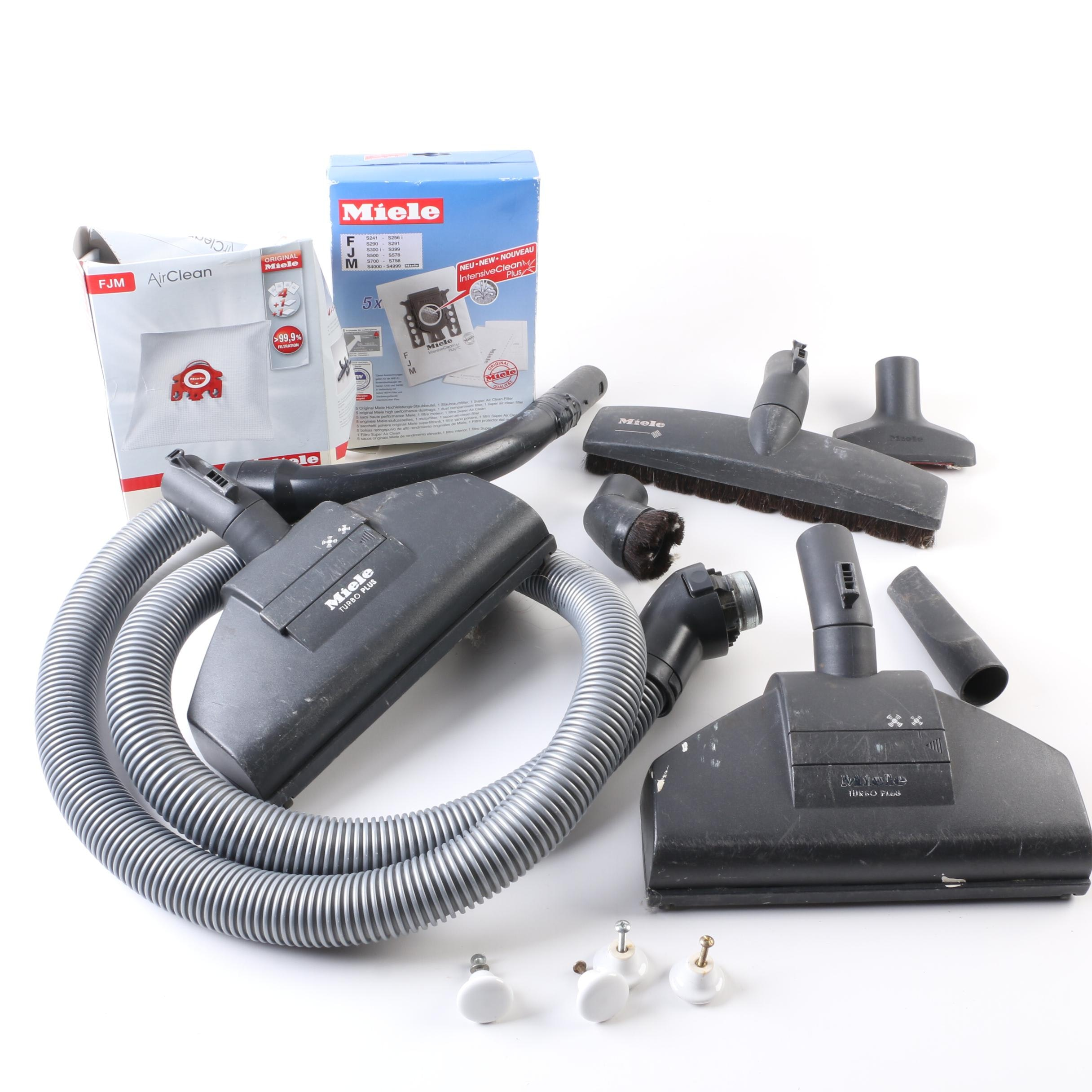 Miele Air Clean Vacuum Filters with Hoses, Attachments, and More
