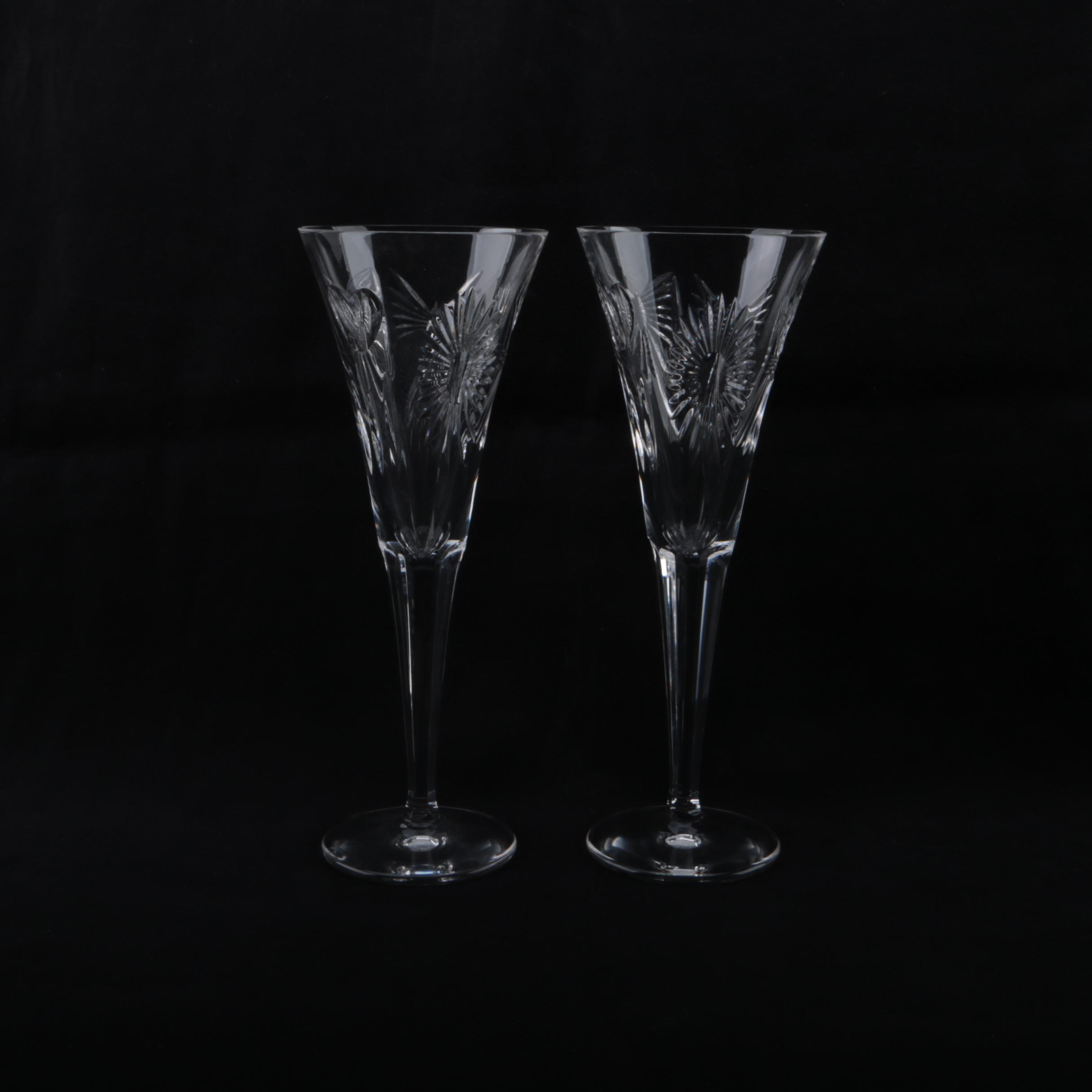 "Waterford Crystal ""Millennium Series: Five Toasts"" Toasting Flutes"