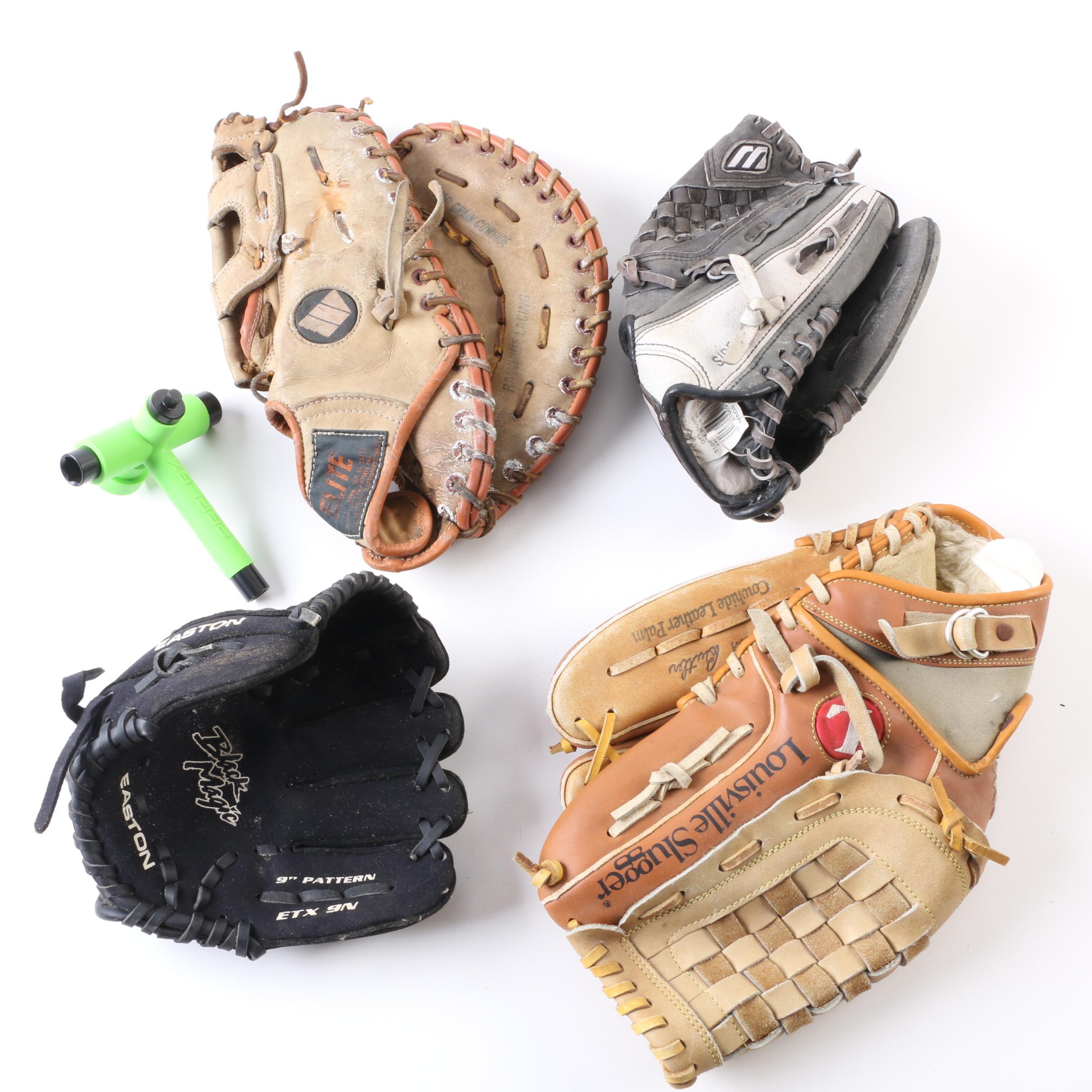 Baseball Gloves and Sprinkler Nozzle