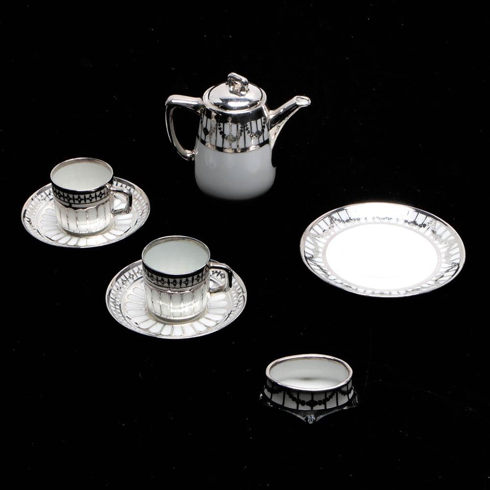 Bavaria Tirschenreuth Porcelain Miniature Tea Set