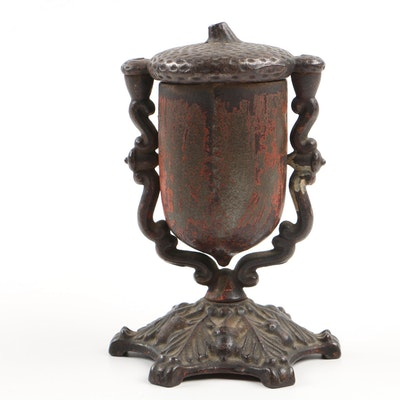 1862 Cast Iron Acorn Match Safe