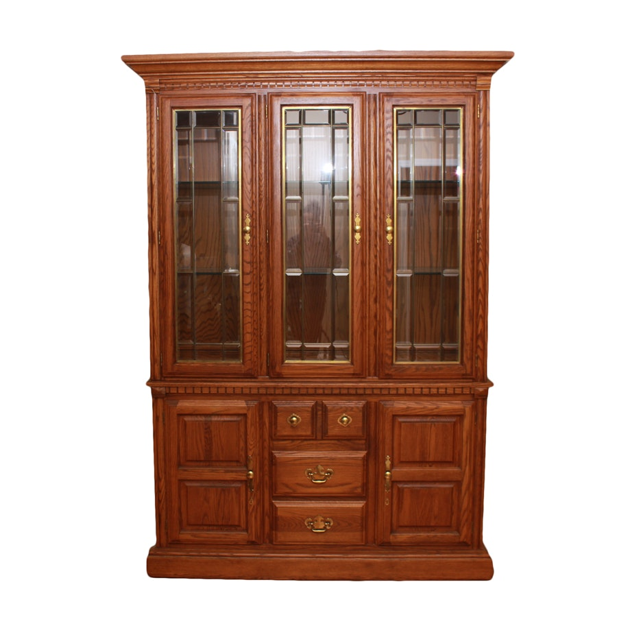 Vintage Oak China Cabinet by Richardson Brothers