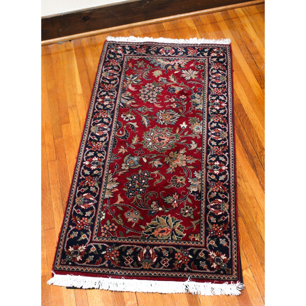 Hand-Knotted Sino-Persian Accent Rug