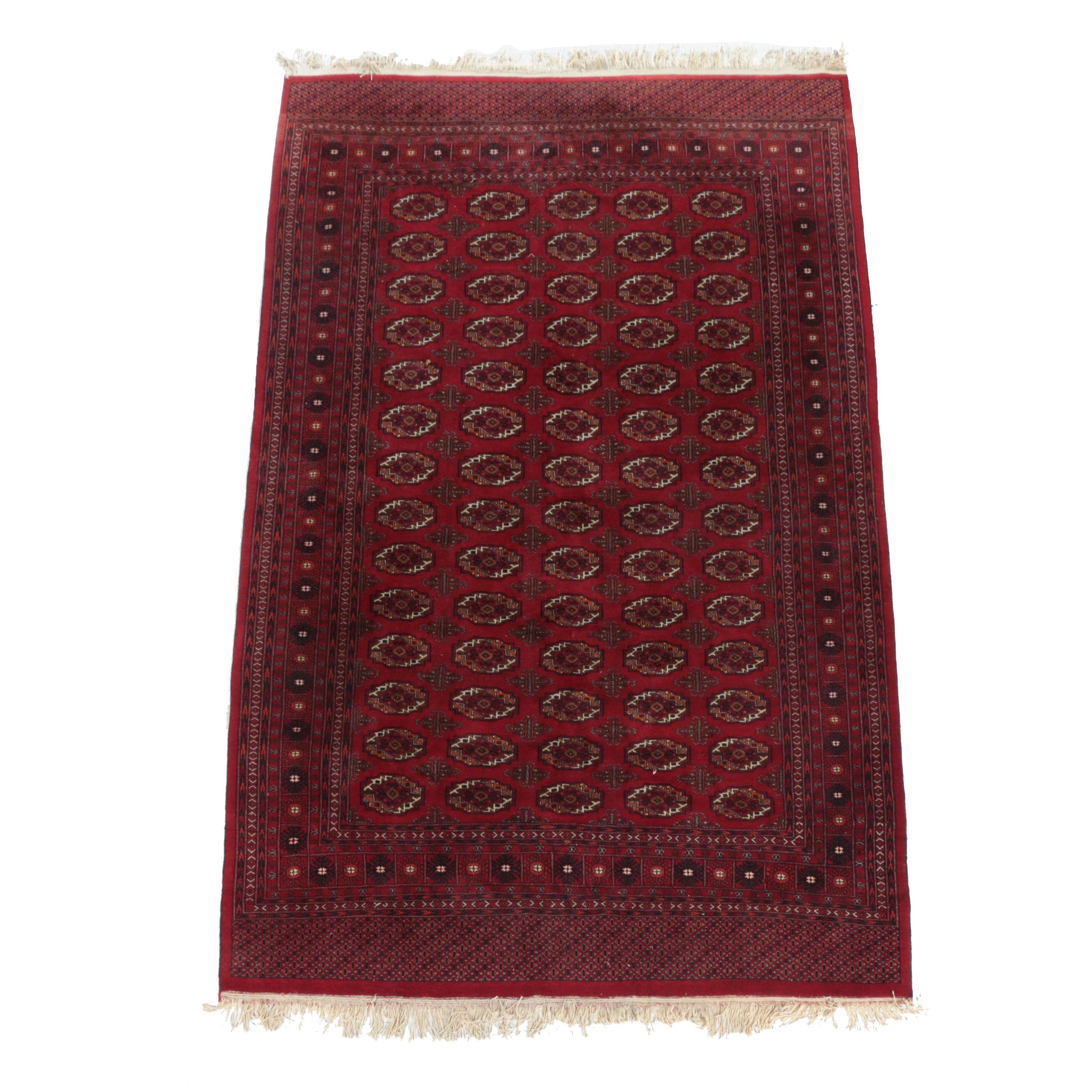 Hand-Knotted Afghan Bokhara Wool Rug