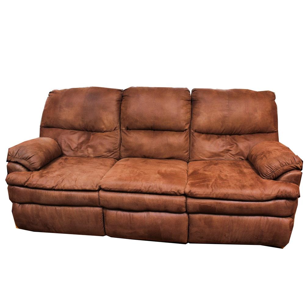 Microsuede Recliner Sofa