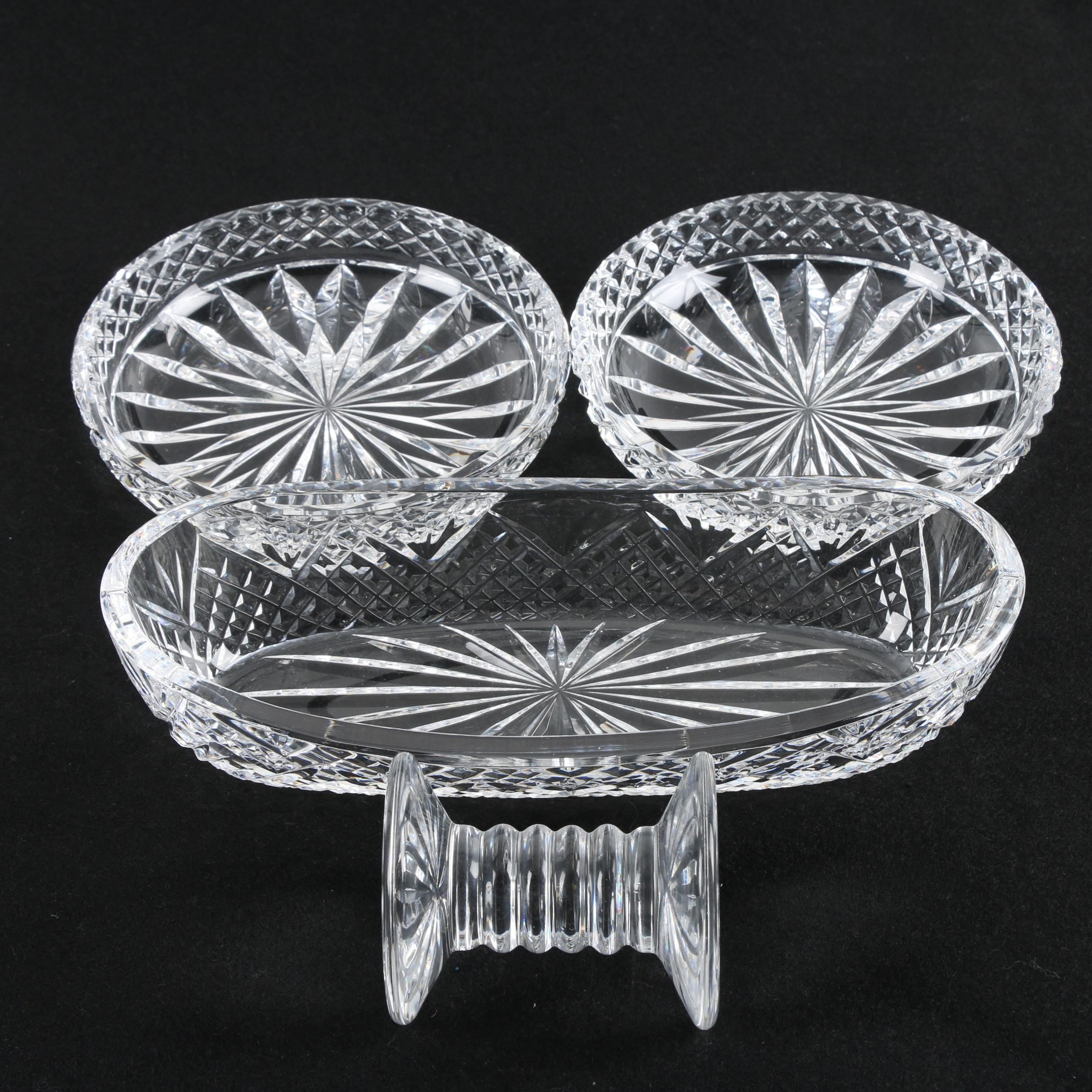 Crystal Bowls with a Celery Dish and Knife Rest featuring Waterford Crystal