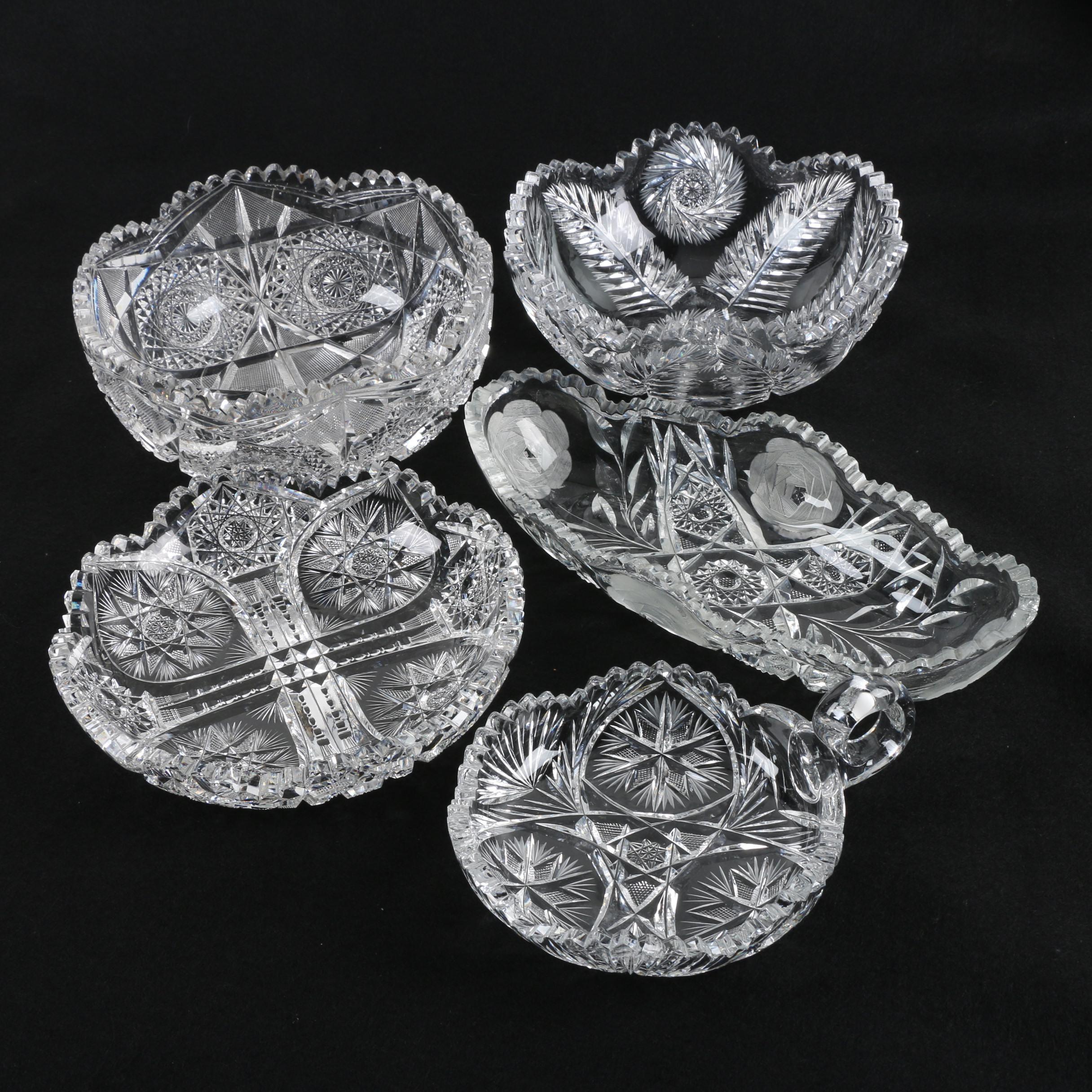 American Brilliant Period Cut Glass Bowls