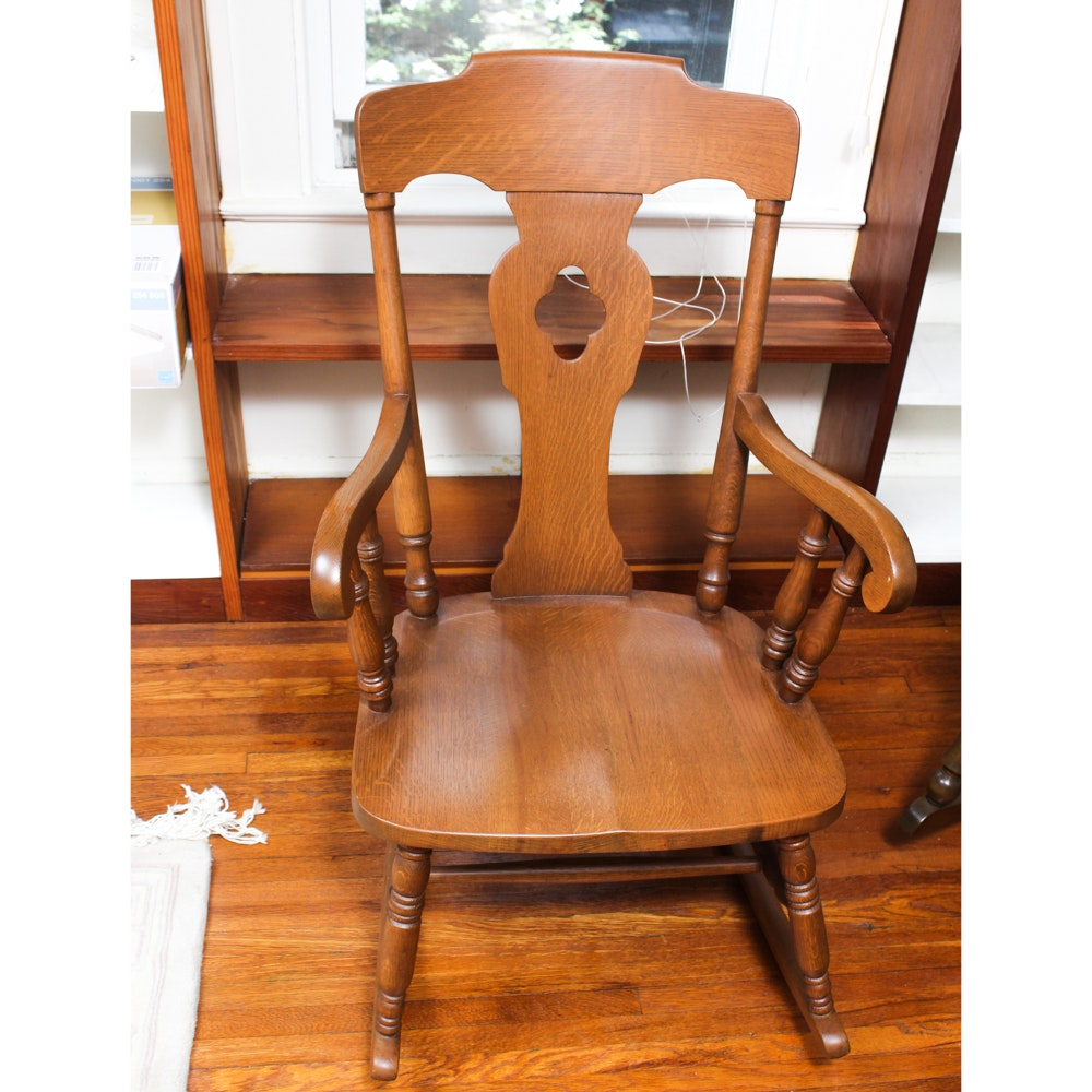 Vintage Oak Rocking Chair