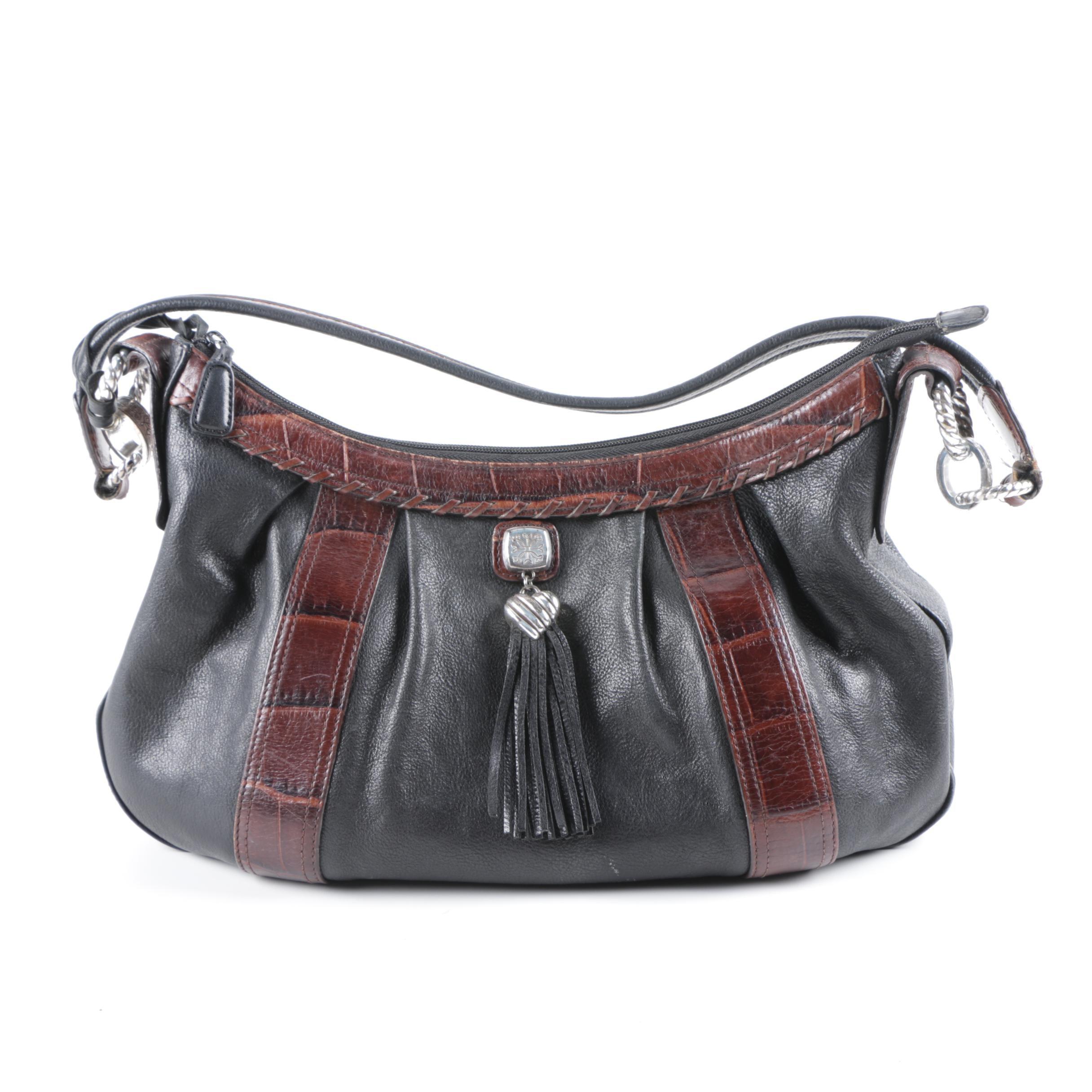 Brighton Collection Leather Hobo Bag