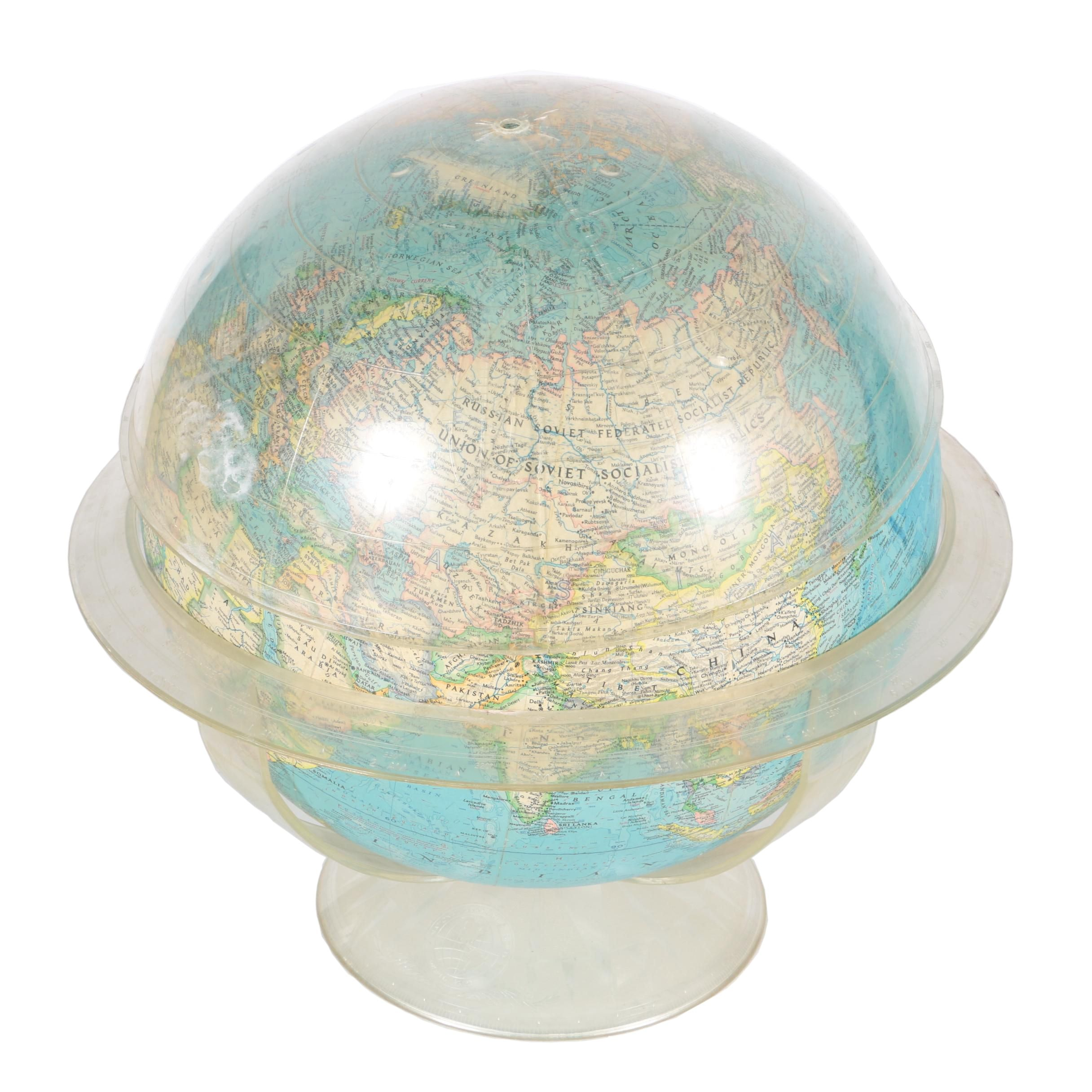 1970s National Geographic Globe