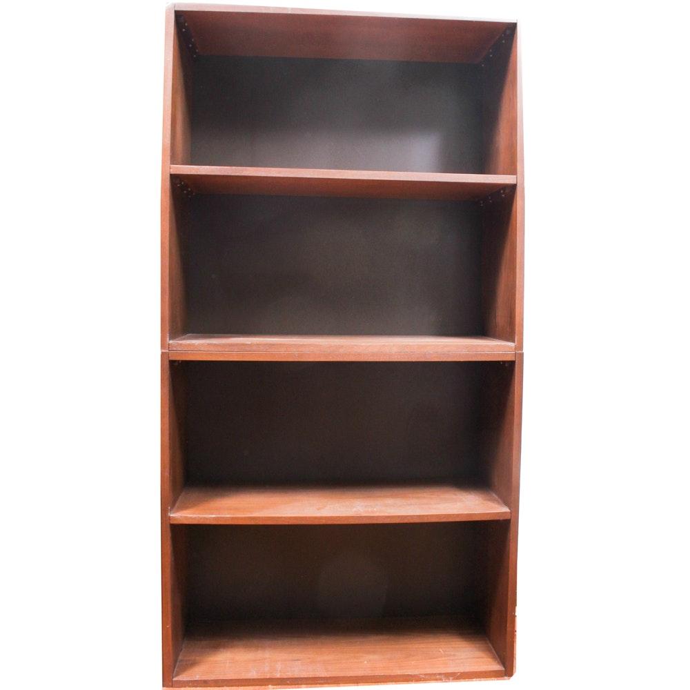 Walnut Veneer Bookshelves