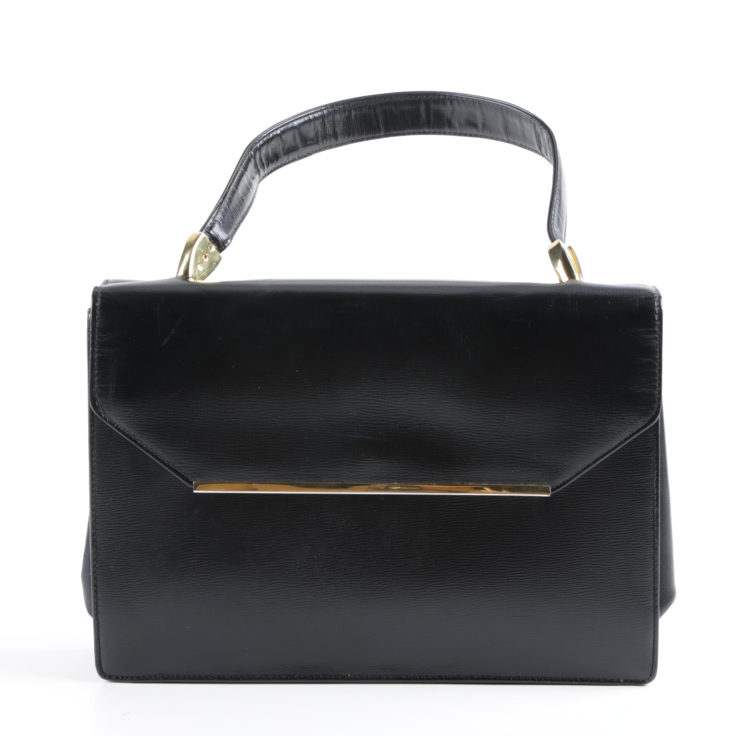 Vintage Koret Black Leather Handbag