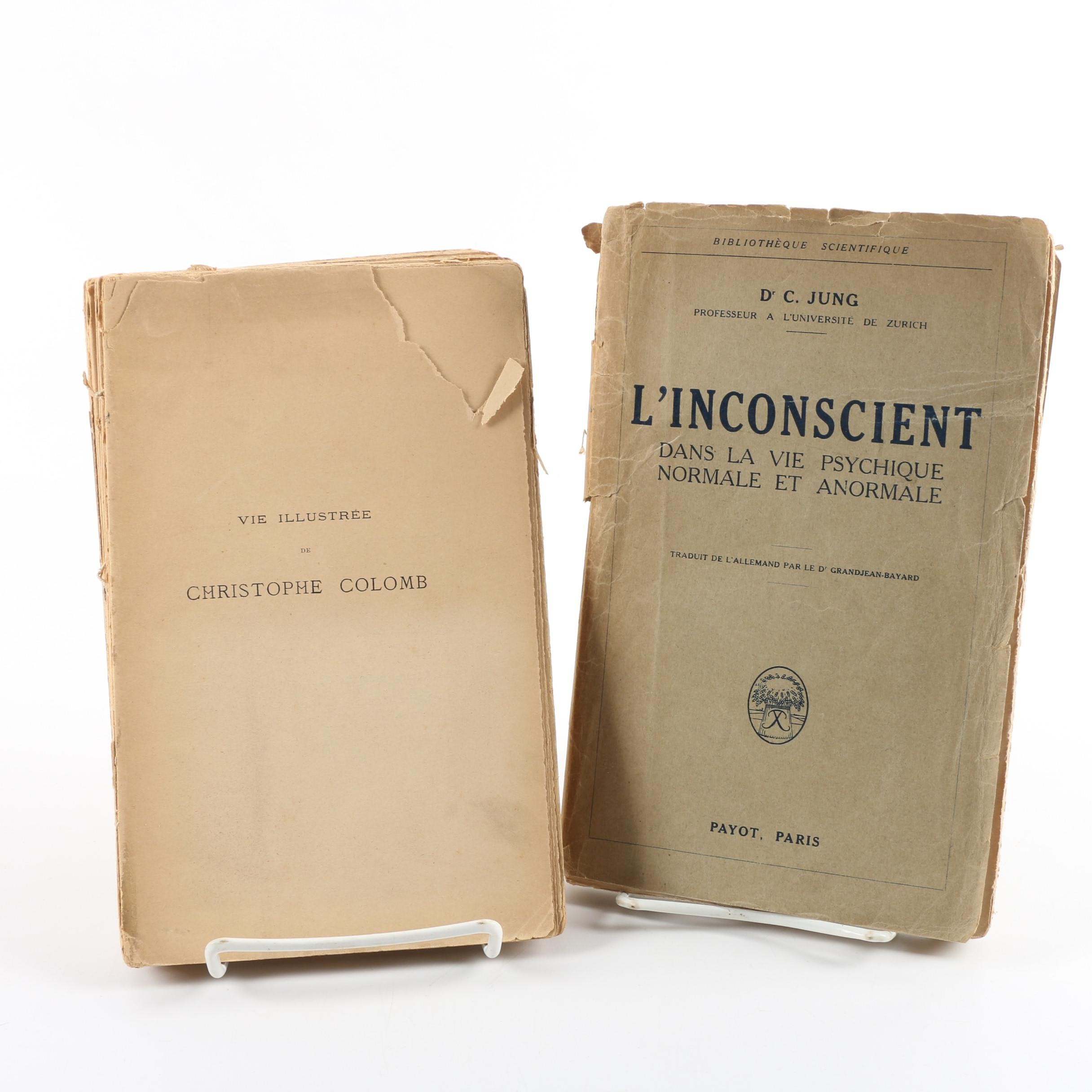 "1928 Carl Jung First French Edition ""L' Inconscient"""