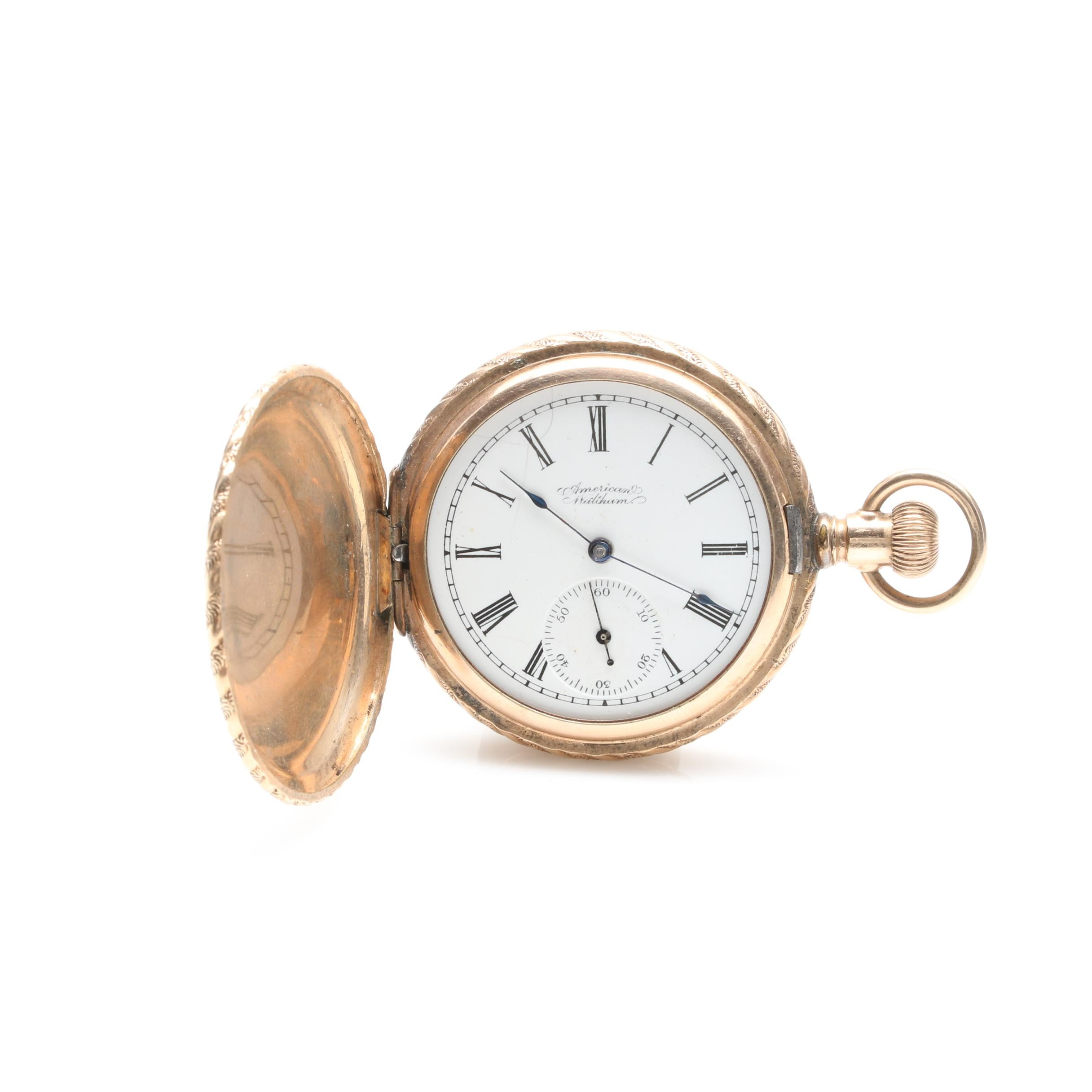 Antique American Waltham Gold Filled Hunting Case Pocket Watch