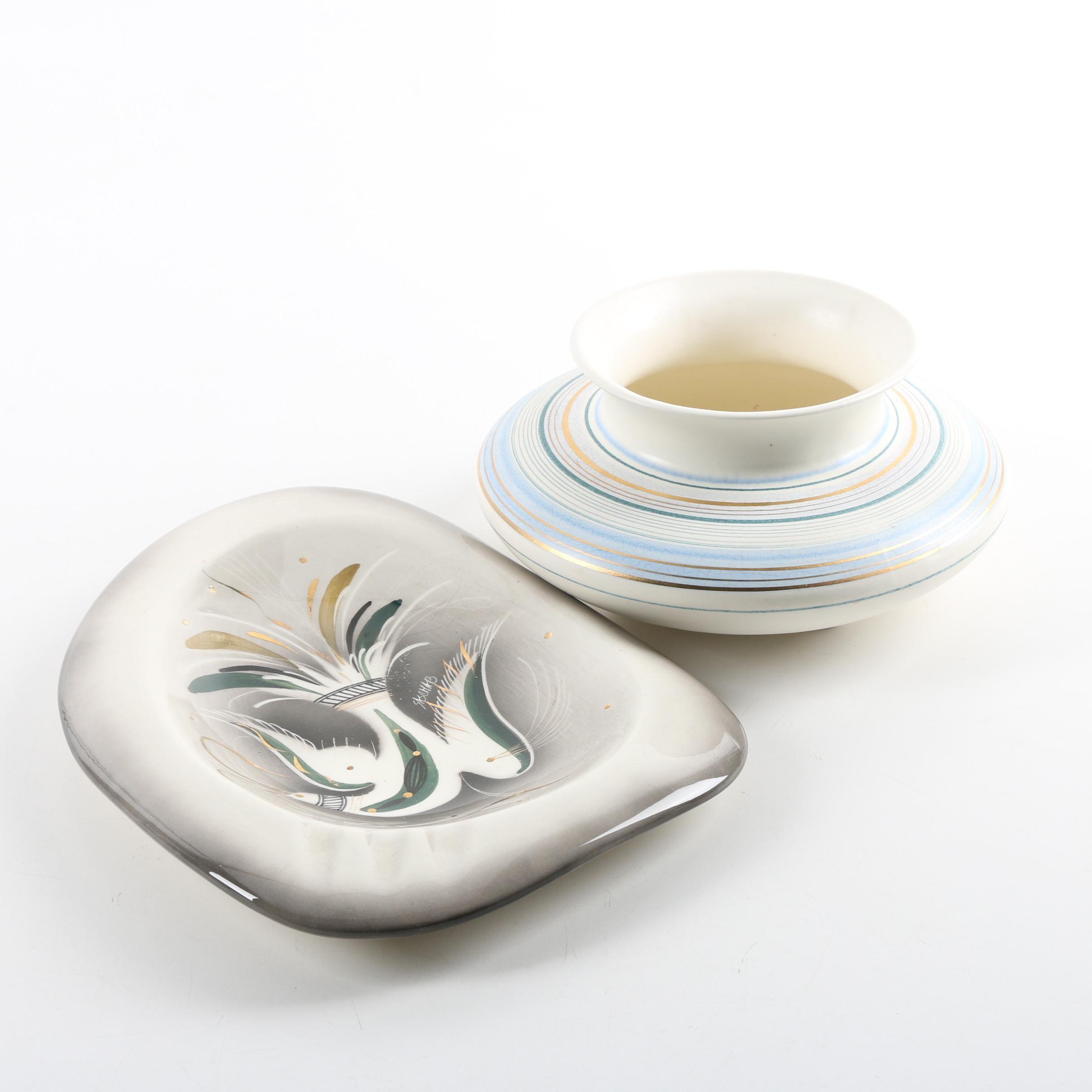 Mid Century Modern Sascha Brastoff Ceramic Dishes