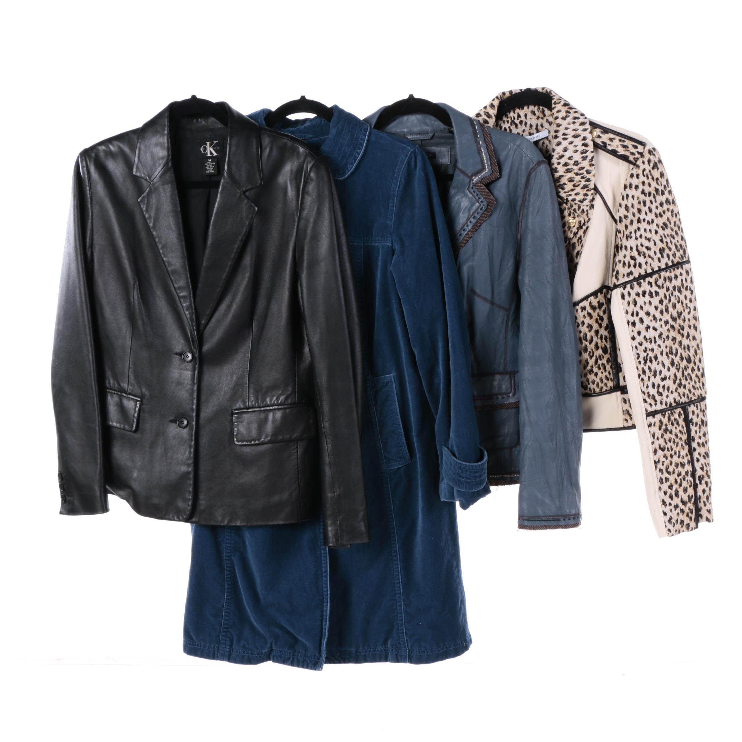 Women's Jackets Including Tahari, Diane von Furstenberg and Calvin Klein