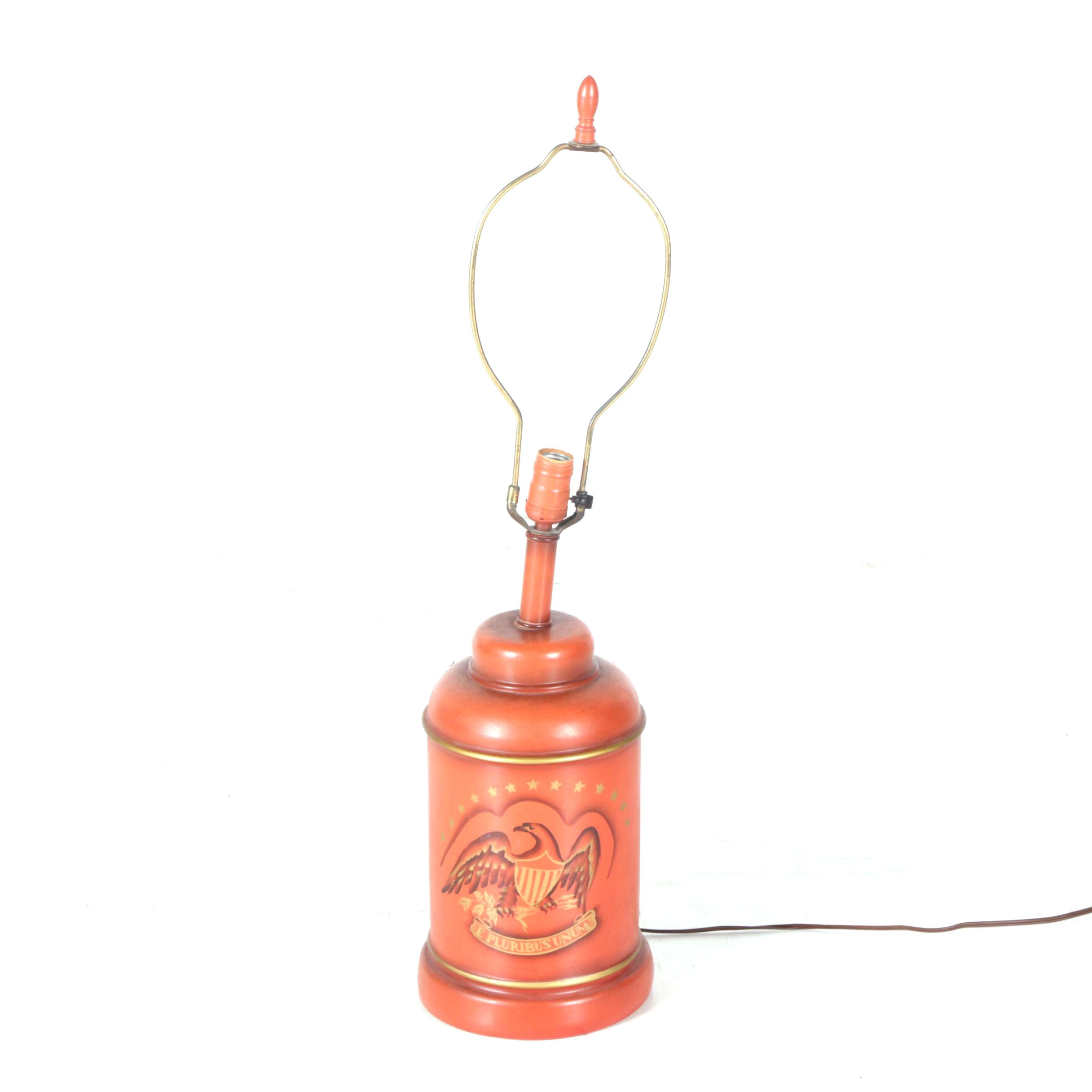 Federal Canister Style Table Lamp