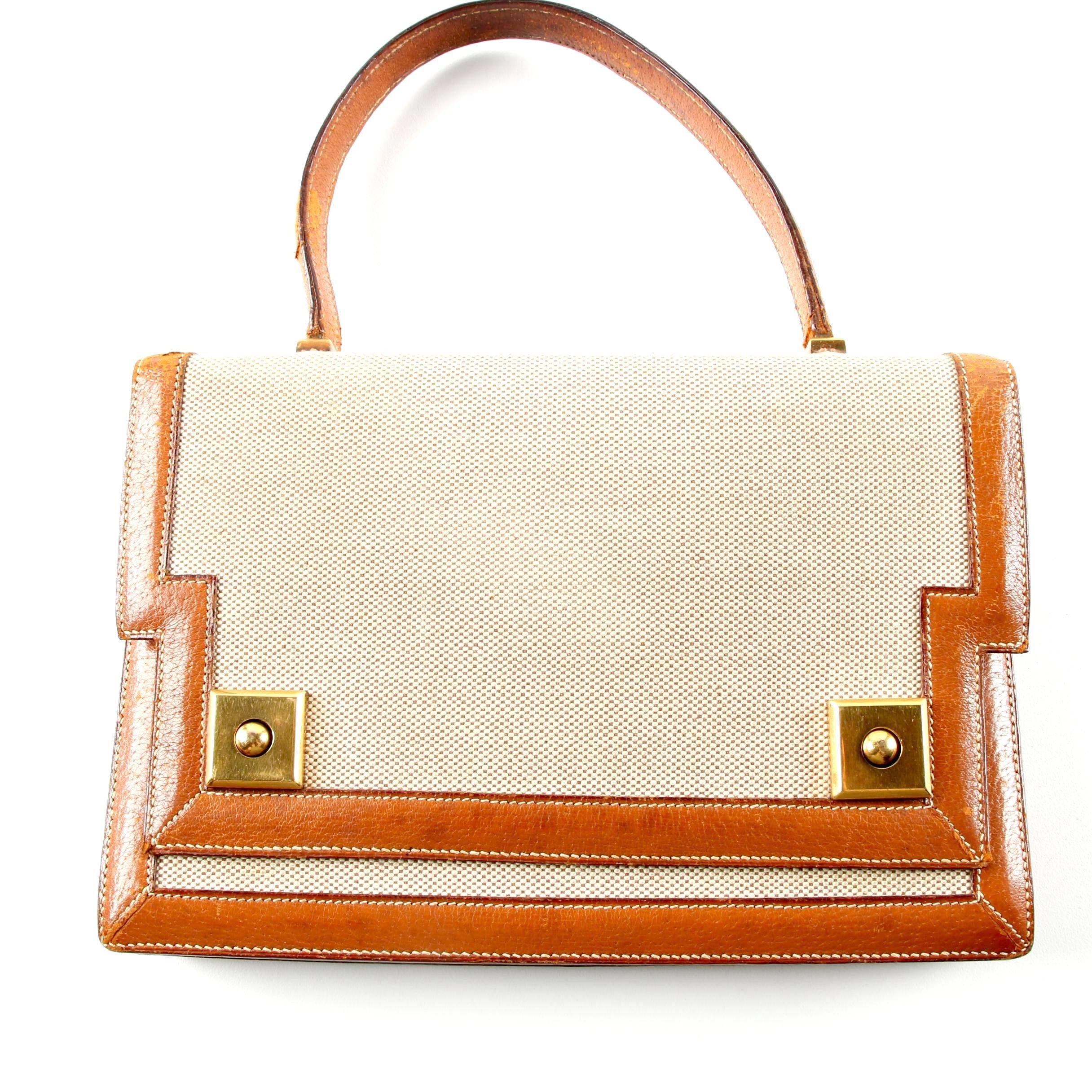 Circa 1960s Vintage Hermès of Paris Piano Top Handle Bag
