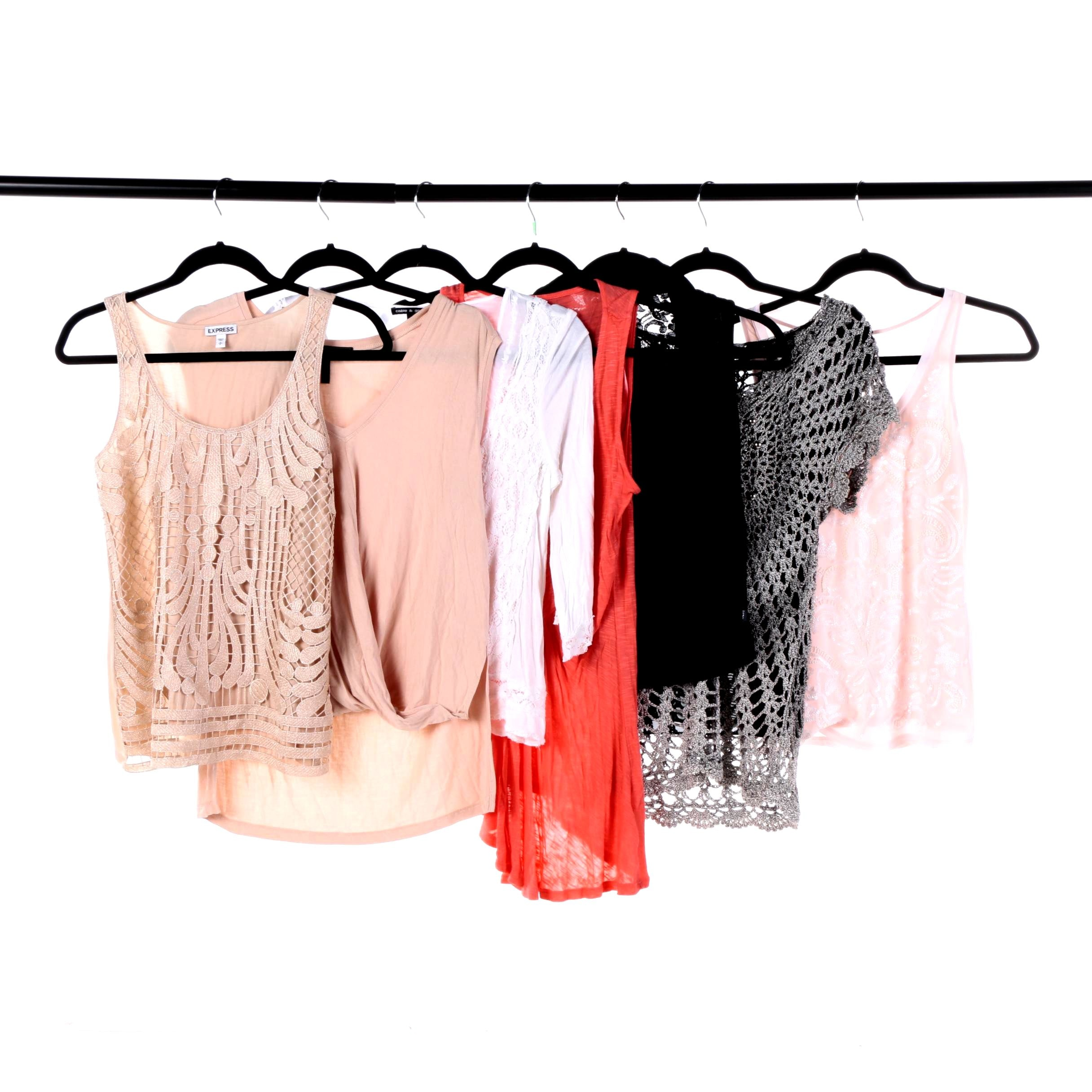 Women's Tops Including Express, BCBG, Alberto Makli and DKNY