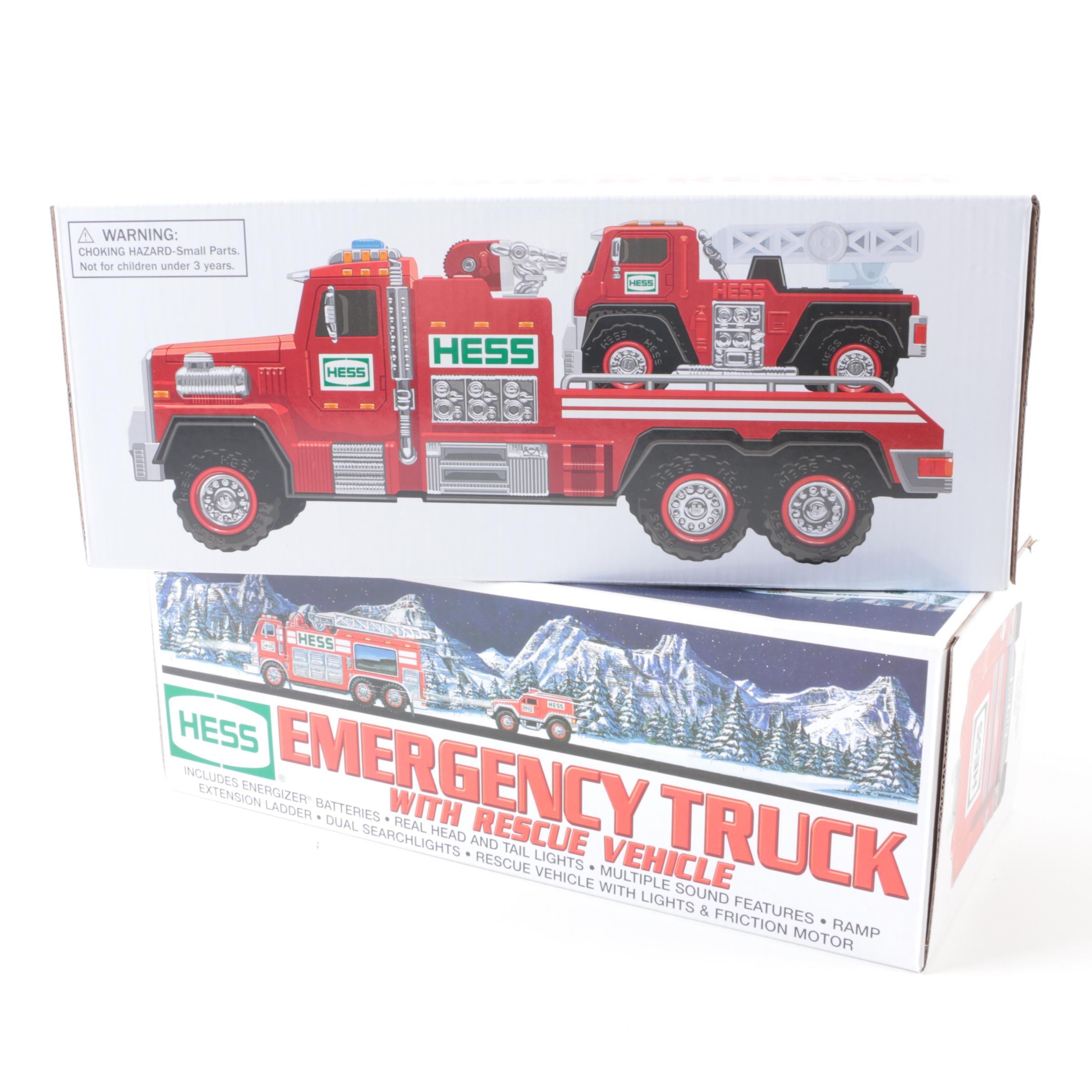 Two Hess Trucks