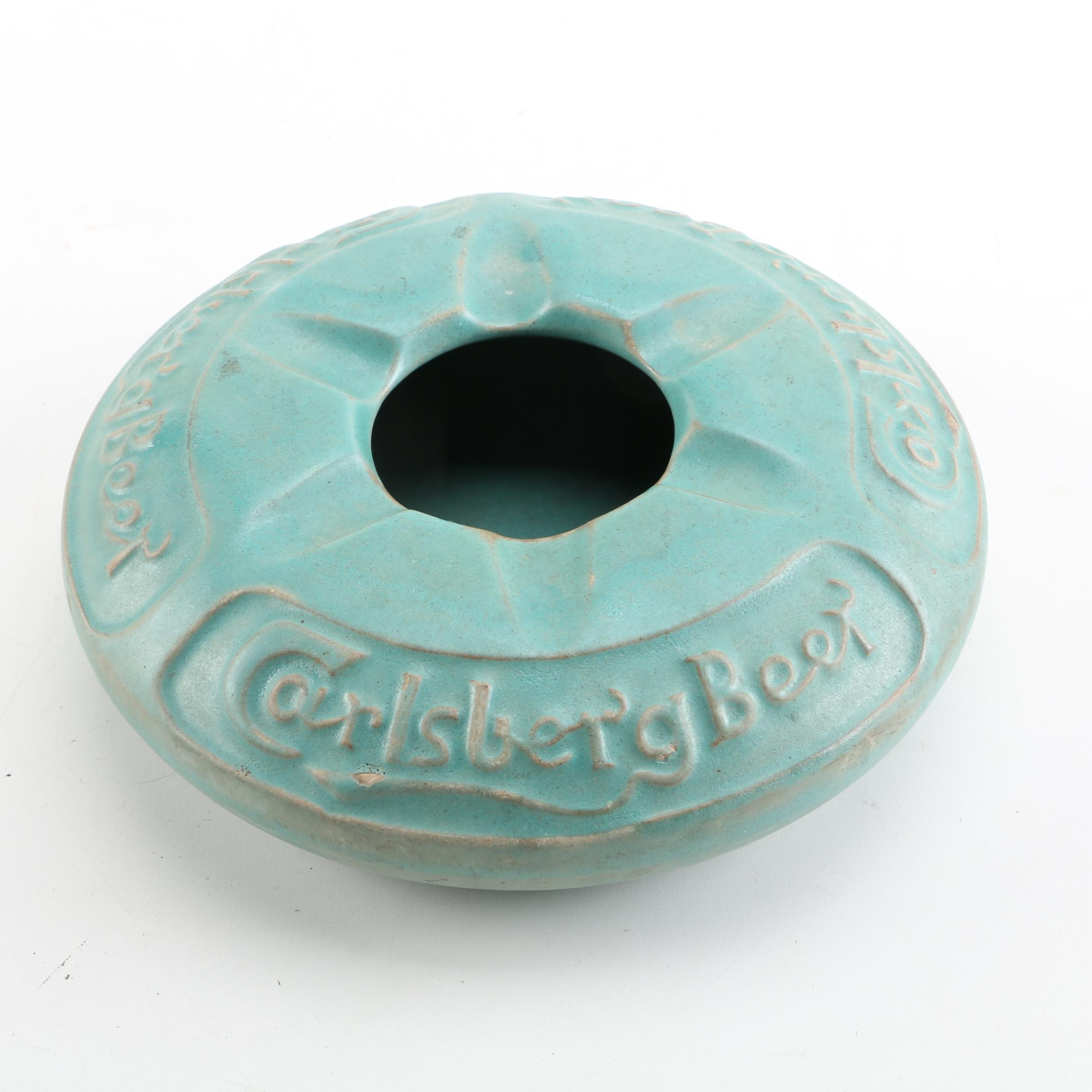 Carlsberg Beer Eslau Denmark Pottery Ashtray