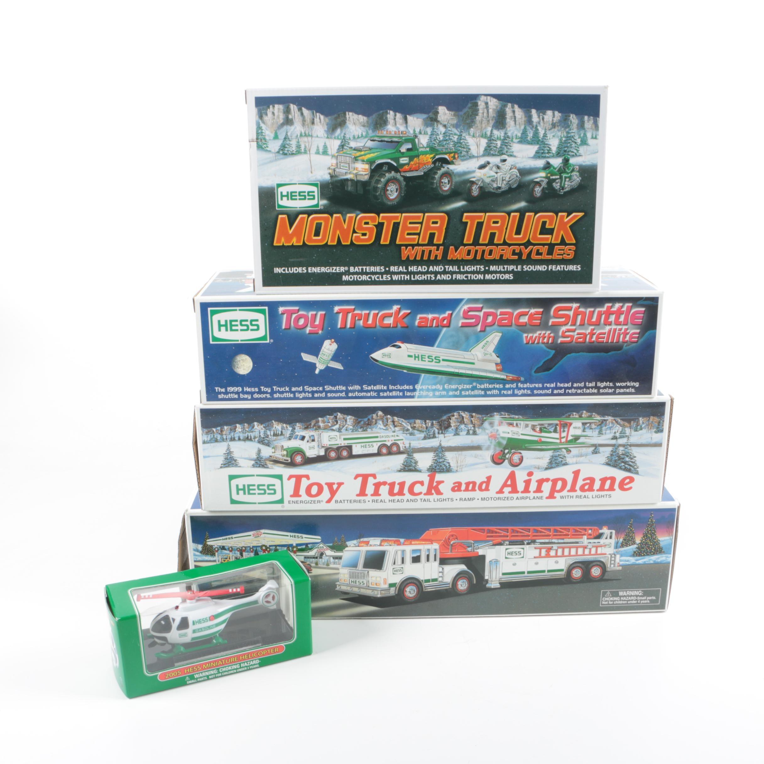 Five Hess Vehicles
