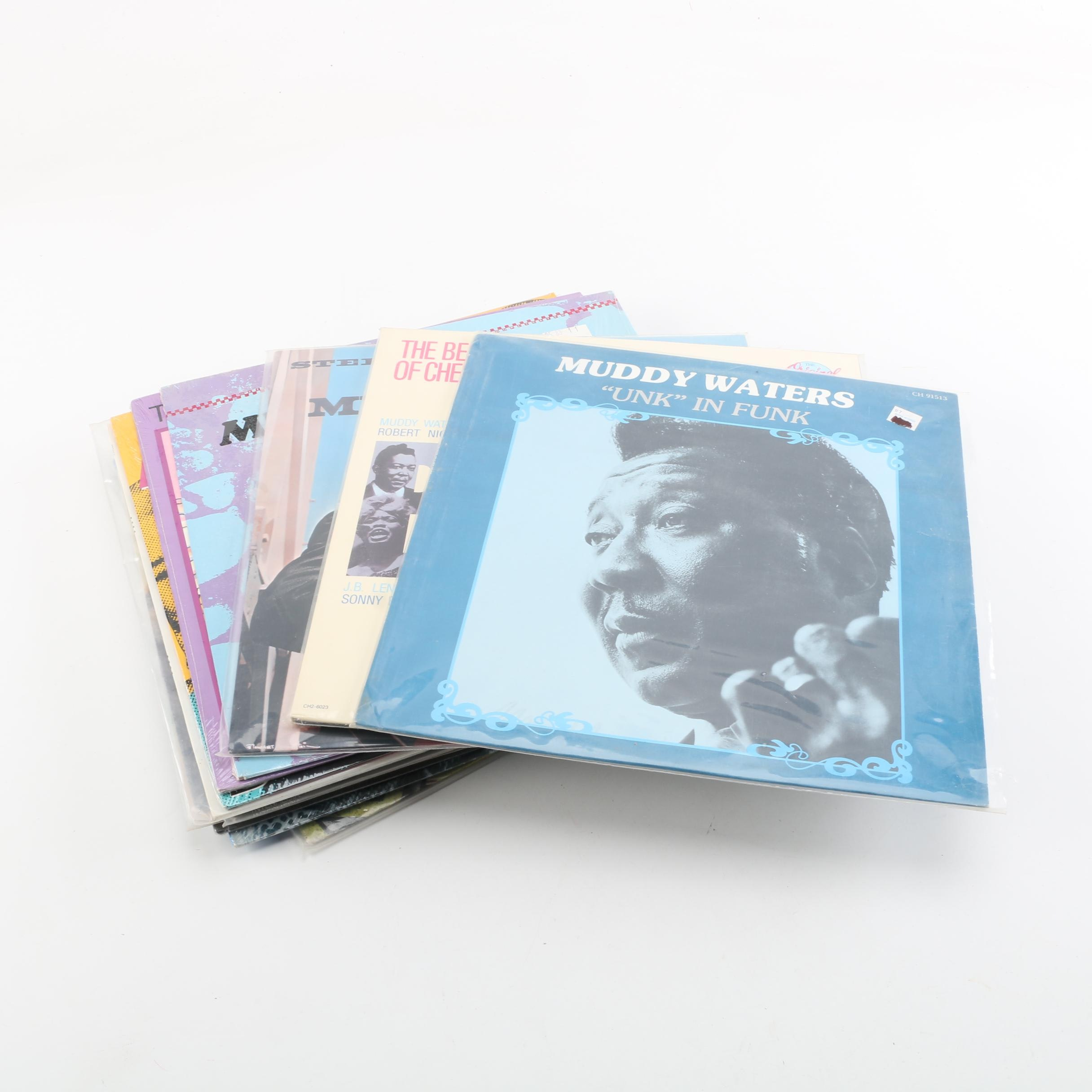 Fifteen Blues Records including Muddy Waters