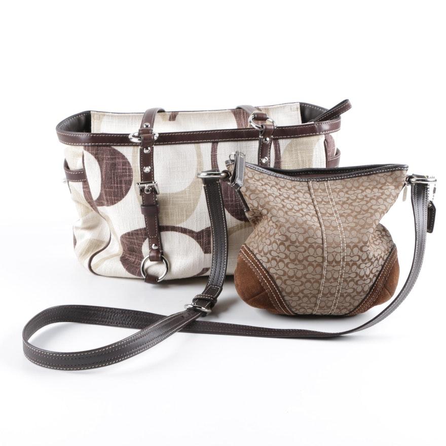 Coach Signature Canvas Handbags Including Tonal Gallery Tote   EBTH d65608df3d32c