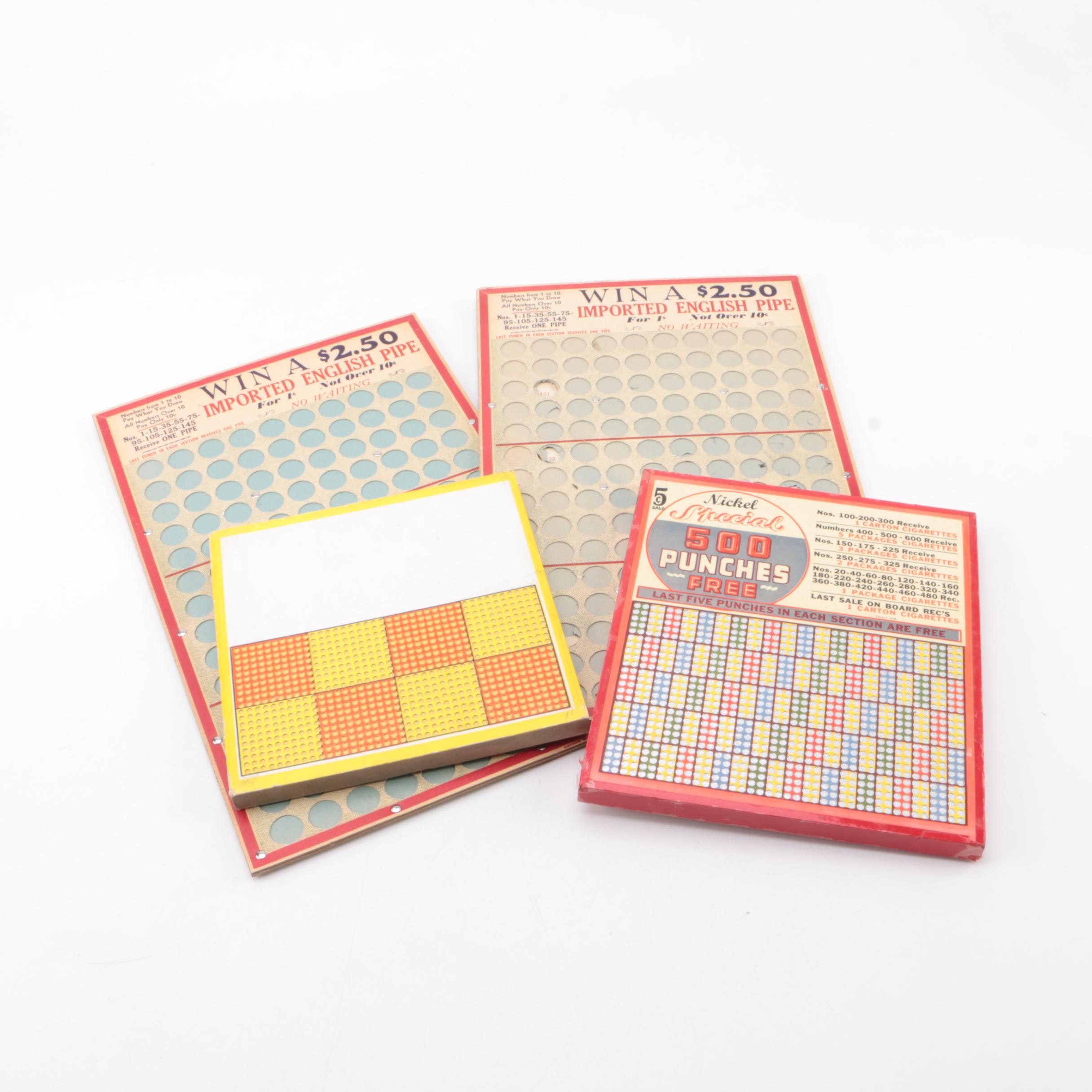Vintage Hole Punch Boards