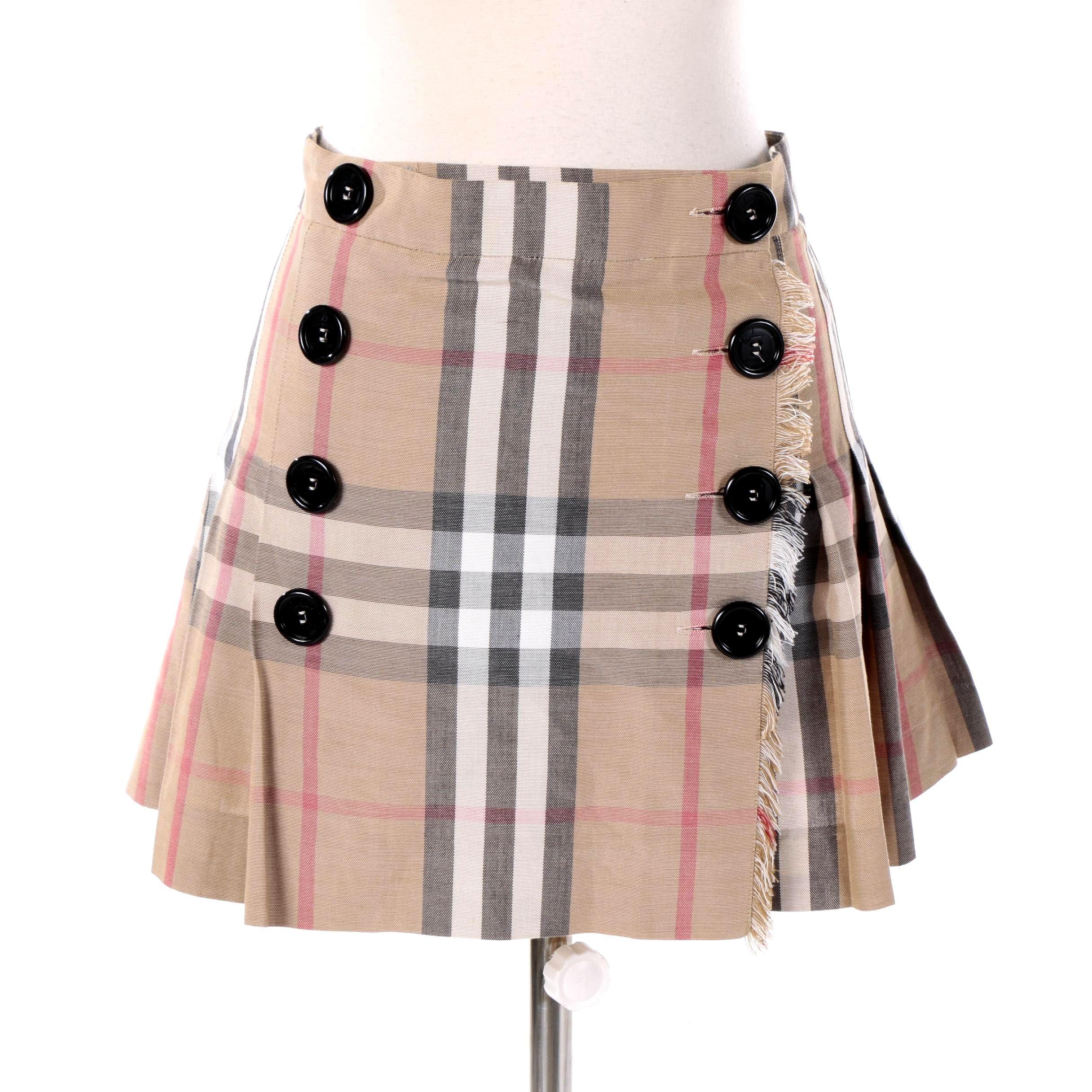 Women's Burberry London Plaid Cotton Mini Kilt