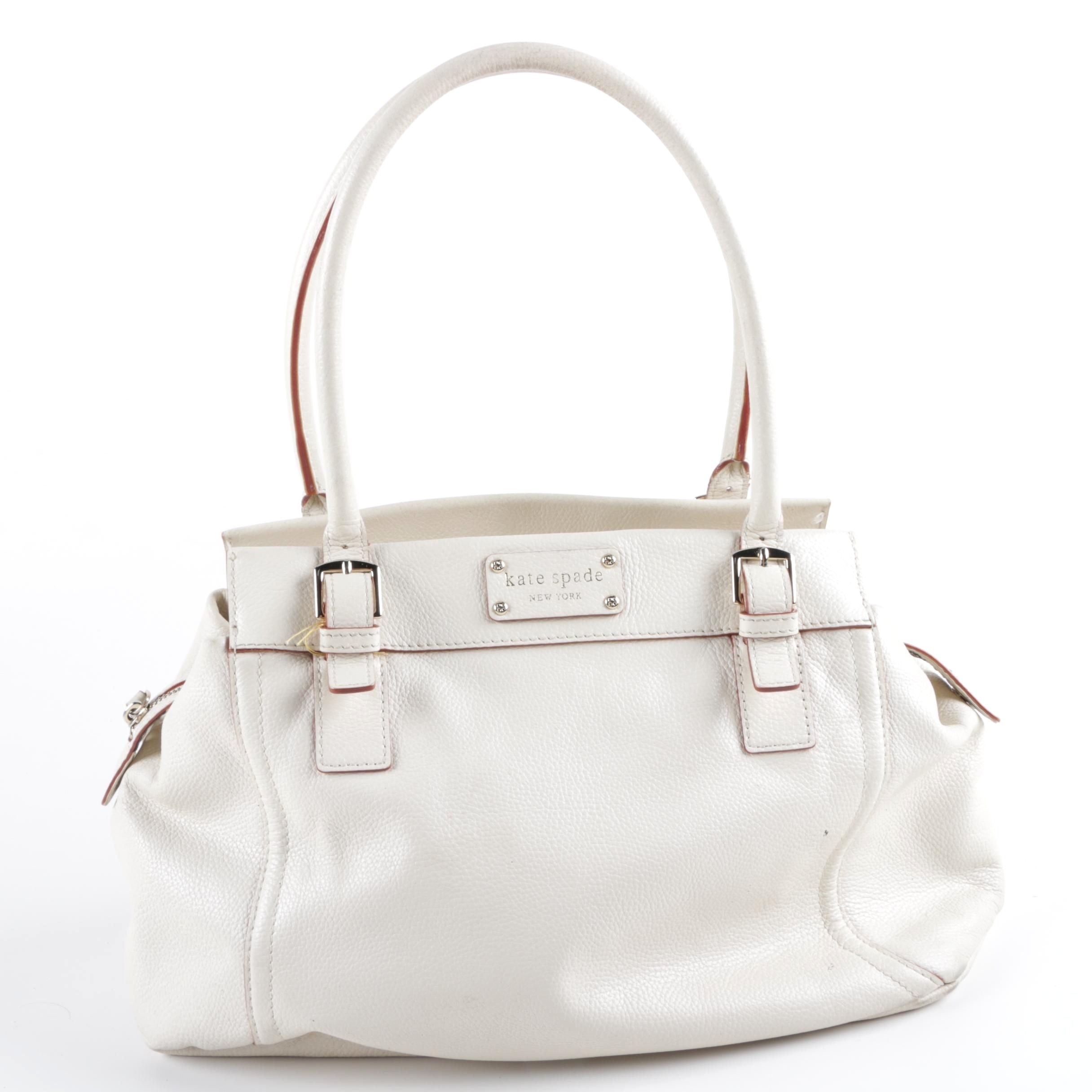 Kate Spade New York White Leather Satchel