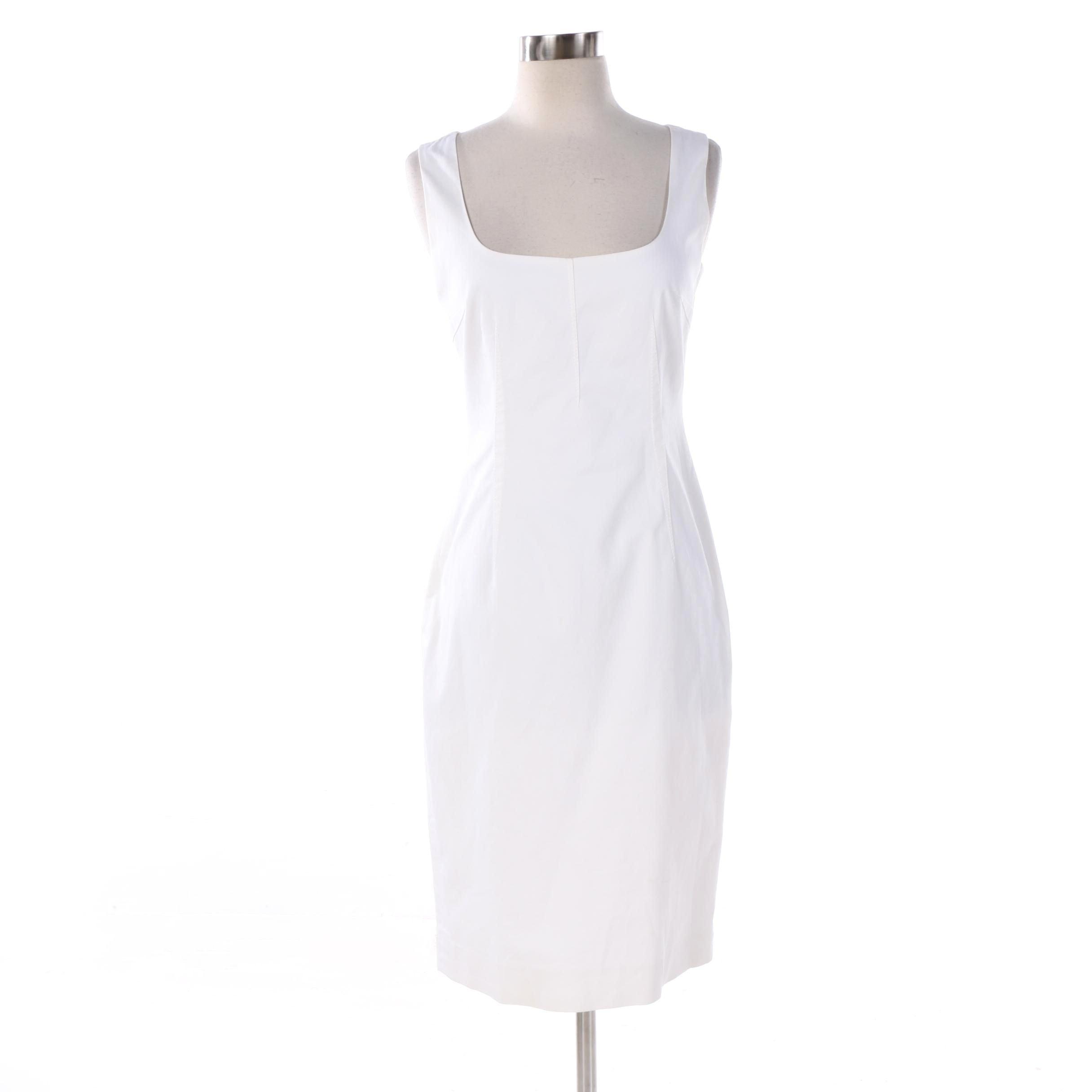 Dolce & Gabbana White Sleeveless Sheath Dress