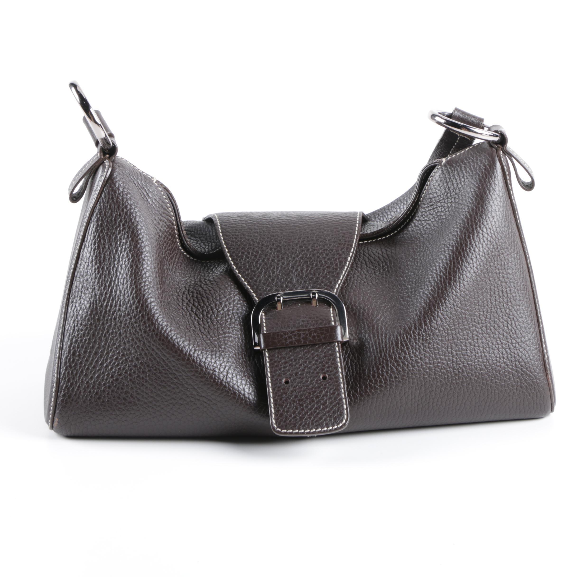 Tod's Dark Brown Leather Shoulder Bag