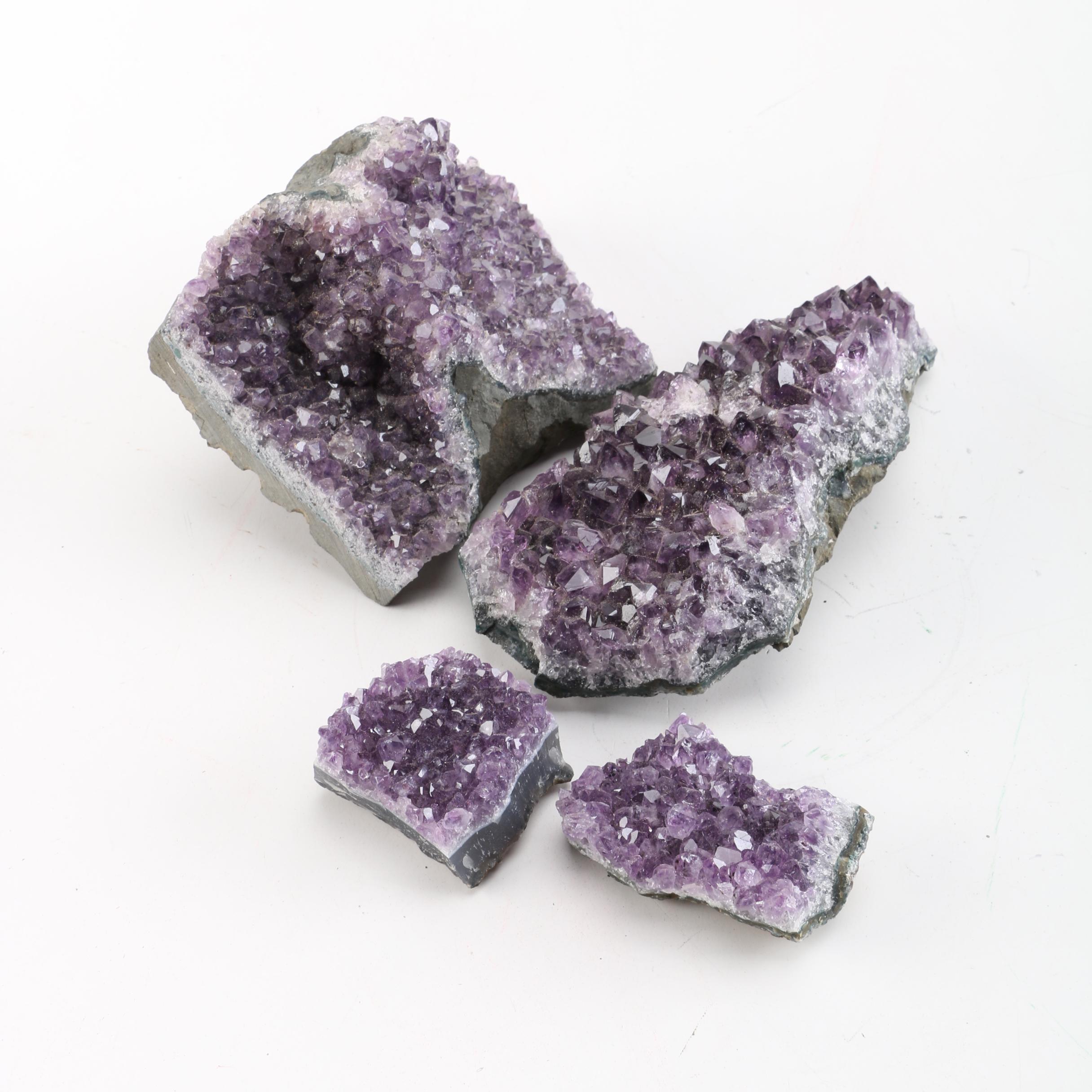 Amethyst Crystal Clusters