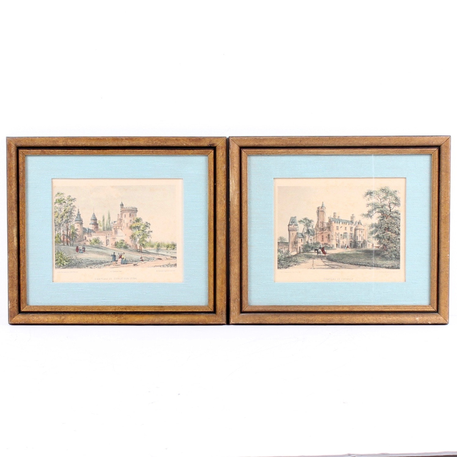 Chateau Framed Lithographs