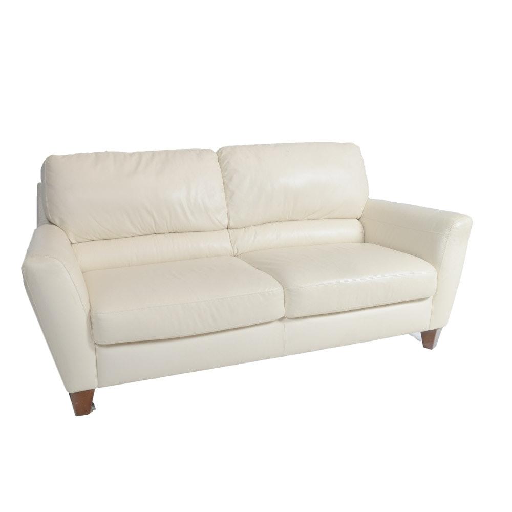 Contemporary Cream Colored Sofa
