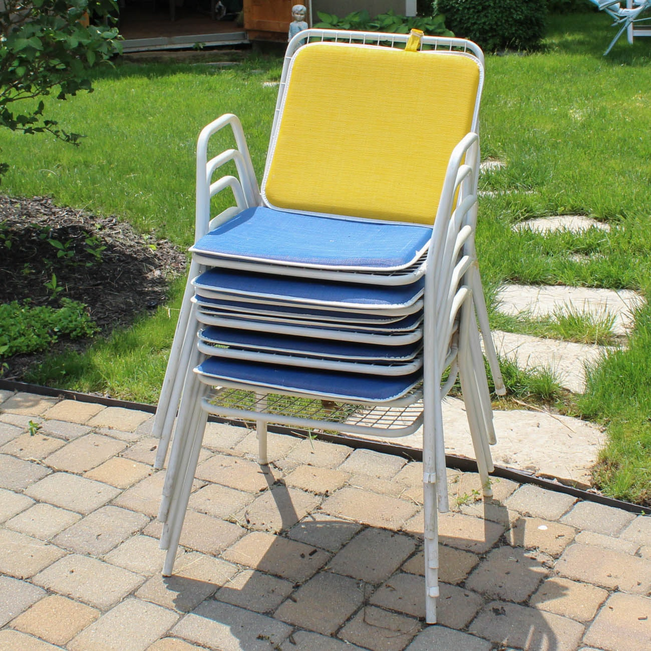 White Stacking Patio Chairs