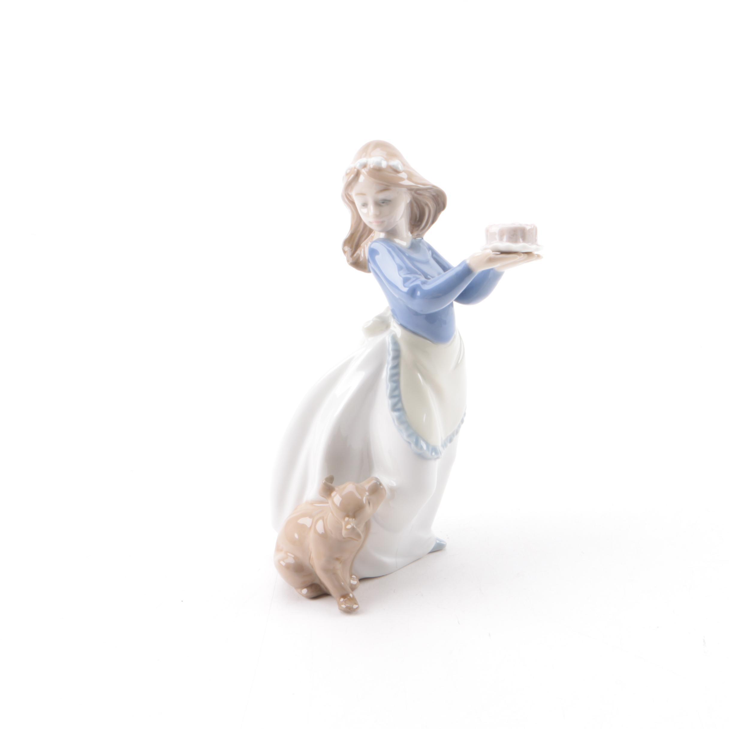 "Lladro ""Puppy's Birthday"" Ceramic Figurine"