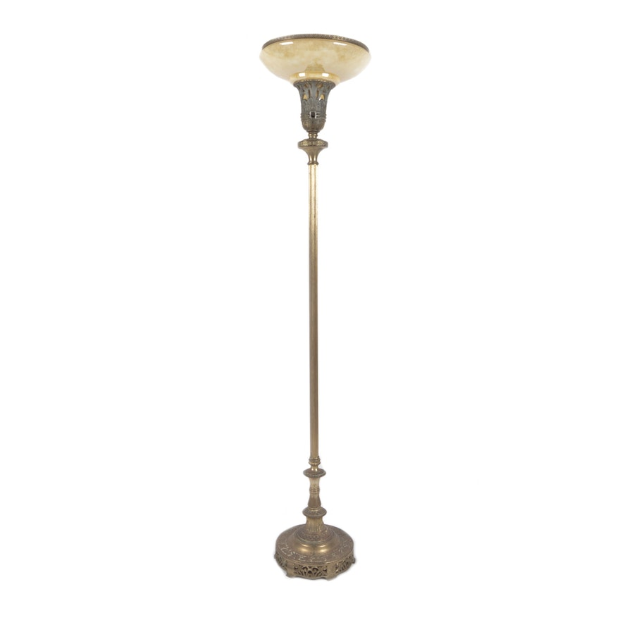 Vintage torchiere floor lamp ebth vintage torchiere floor lamp aloadofball Image collections